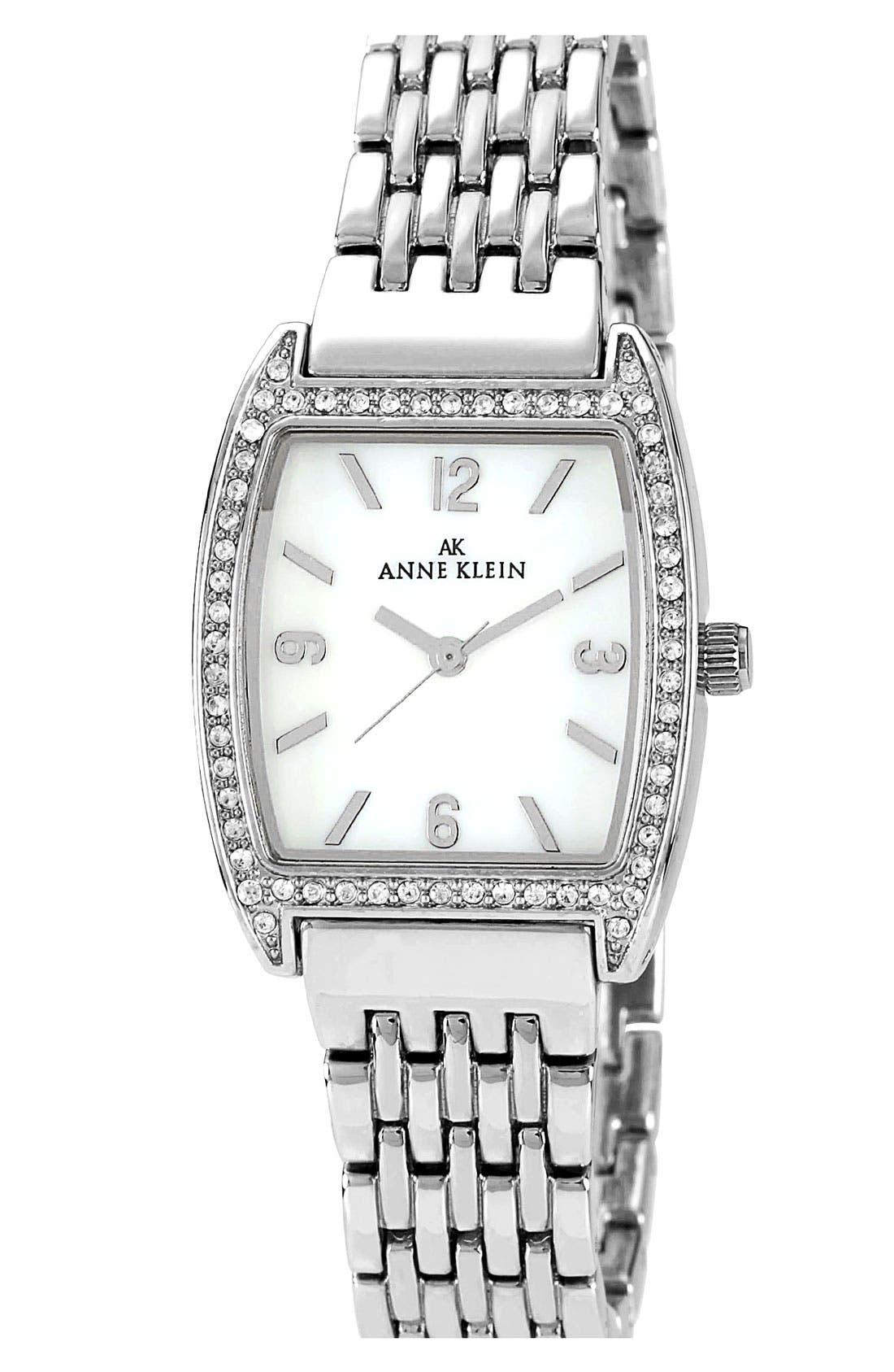 Alternate Image 1 Selected - Anne Klein Tonneau Bracelet Watch