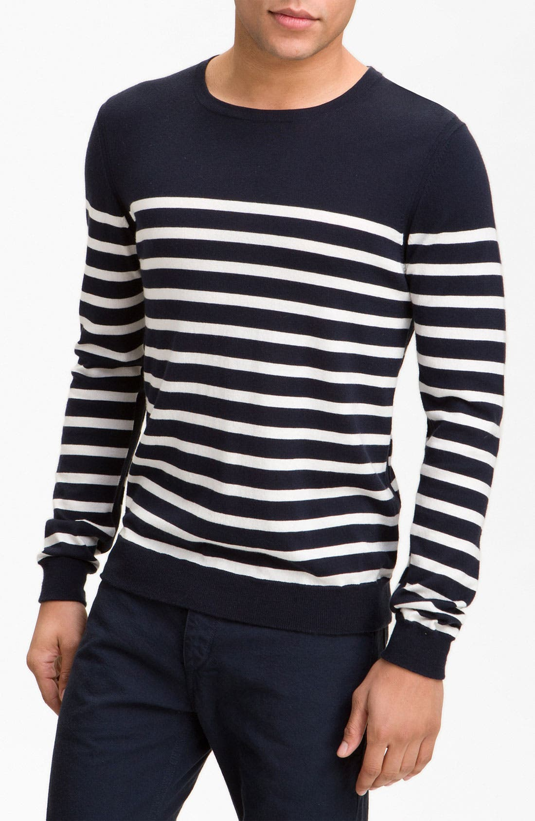 Alternate Image 1 Selected - rag & bone 'Basque' Crewneck Sweater