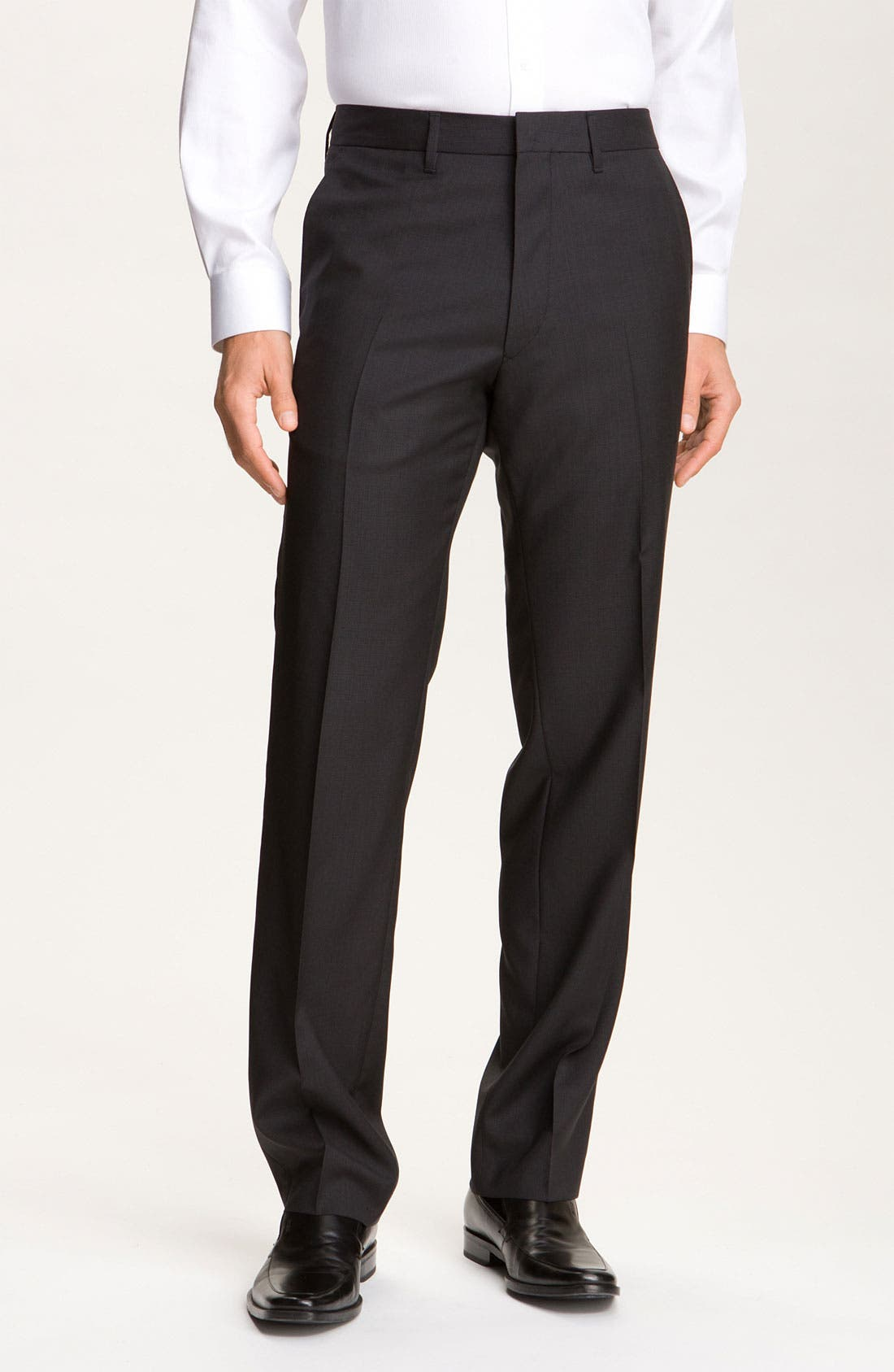 Alternate Image 1 Selected - BOSS Black 'Cagan Comfort Fit' Linen Blend Pants