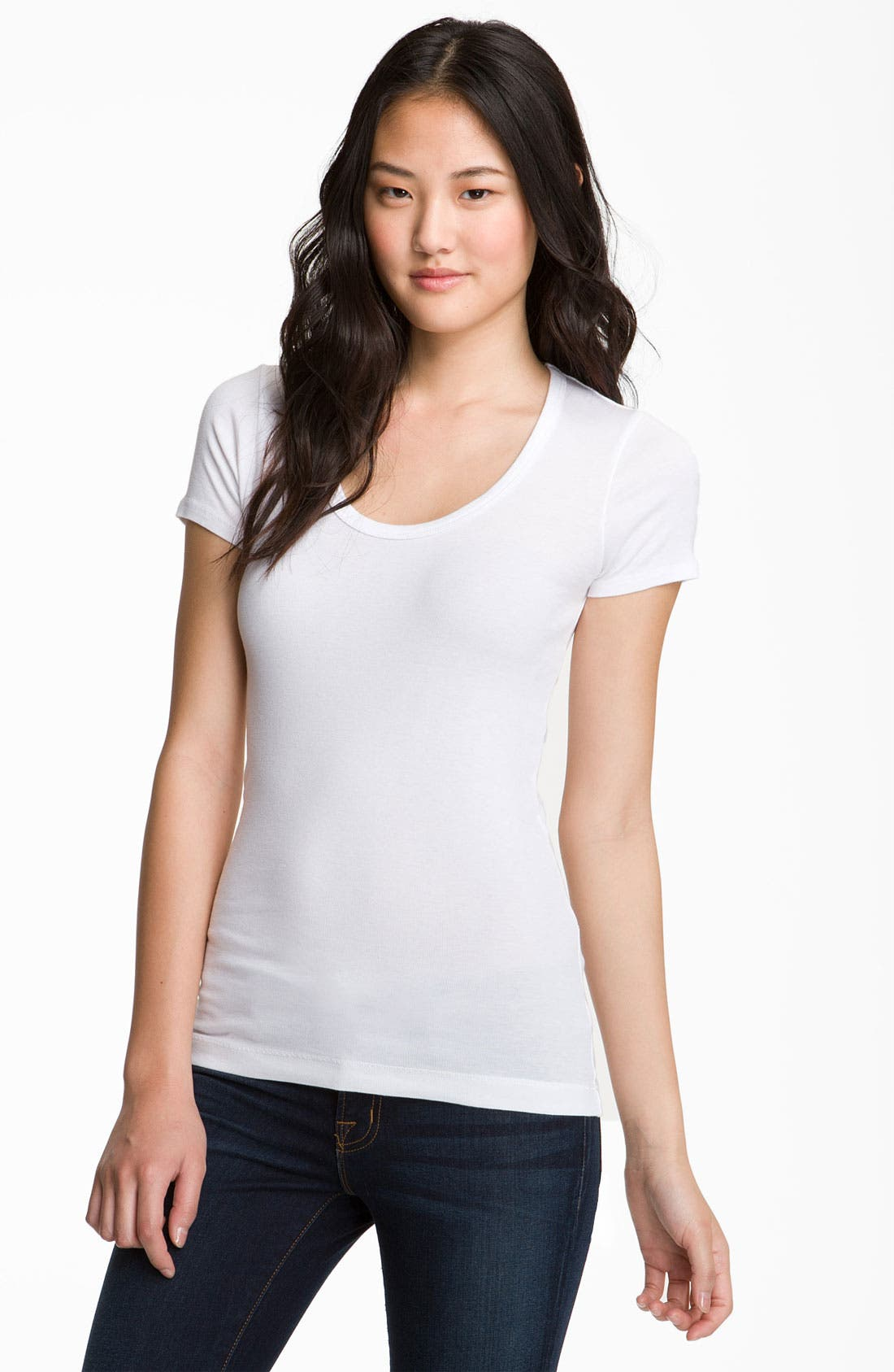 Alternate Image 1 Selected - Splendid Lightweight Scoop Jersey Tee