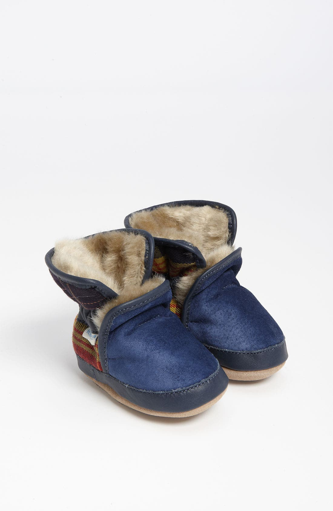 Alternate Image 1 Selected - Robeez® 'Cozy' Ankle Bootie (Baby & Walker)