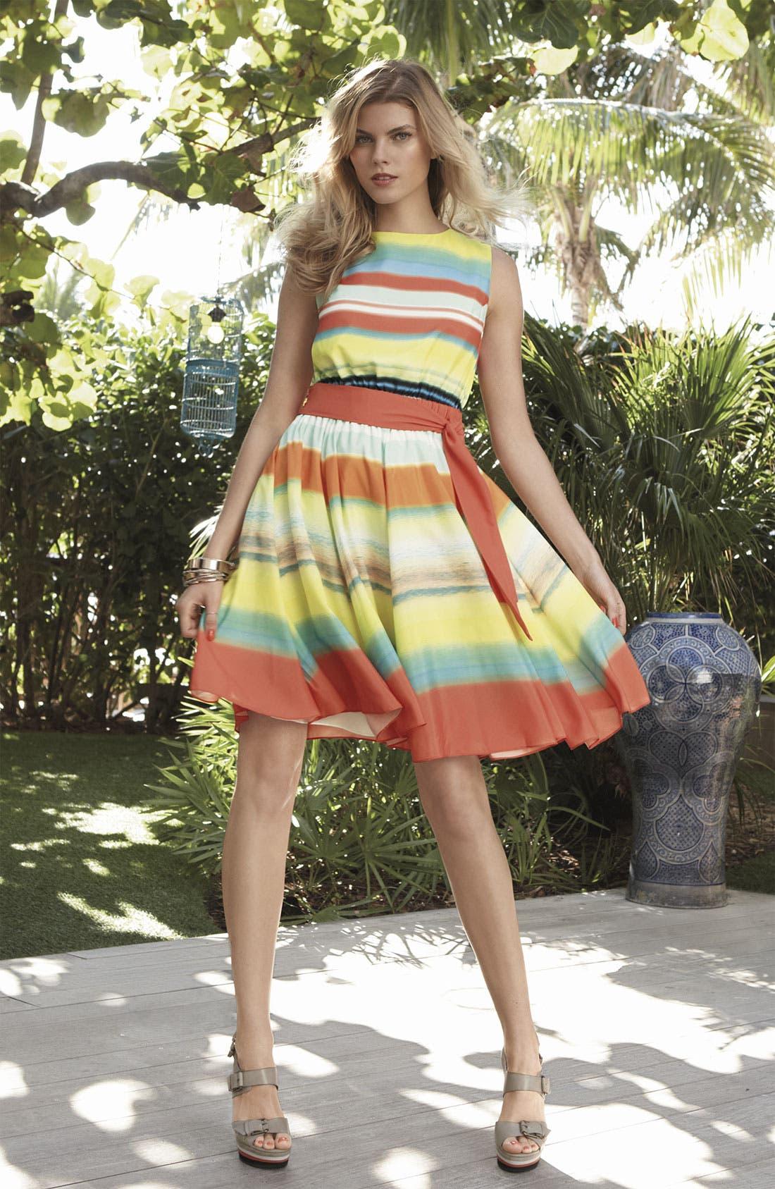 Alternate Image 3  - Ted Baker London 'Sunset Stripe' Full Skirt Dress