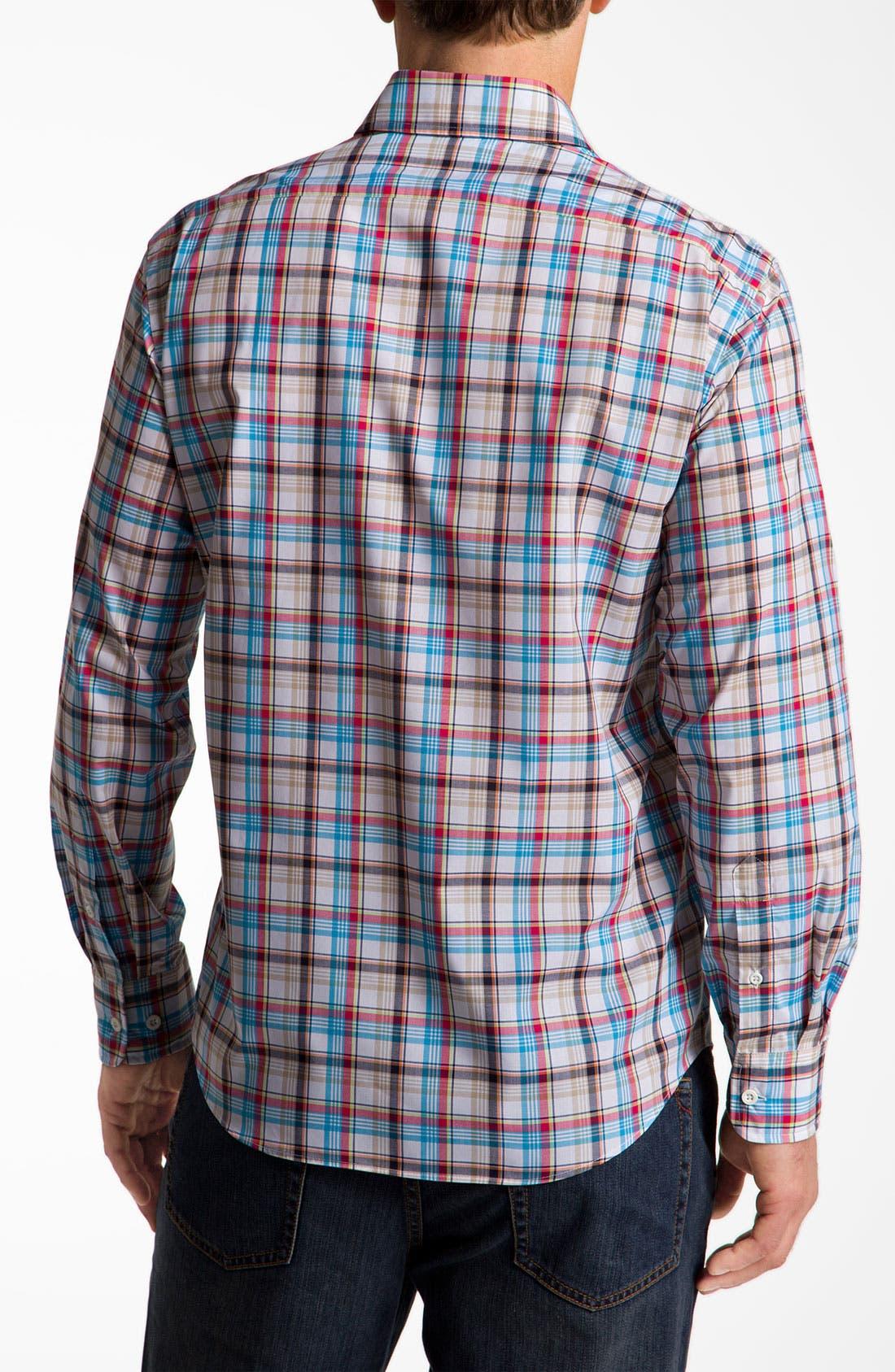 Alternate Image 2  - Façonnable Classique Fit Cotton & Linen Sport Shirt