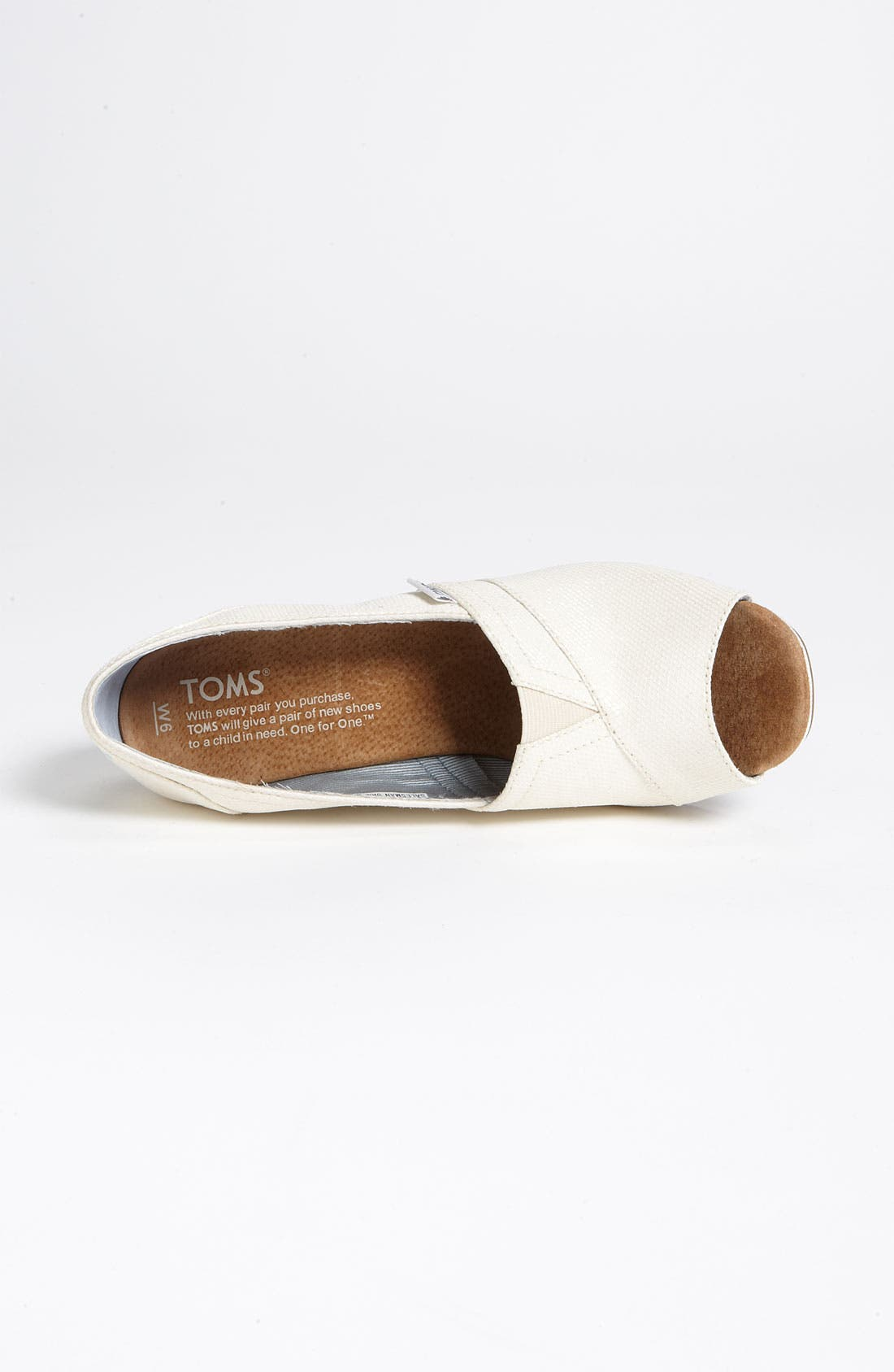 Alternate Image 3  - TOMS Glitter Grosgrain Wedge