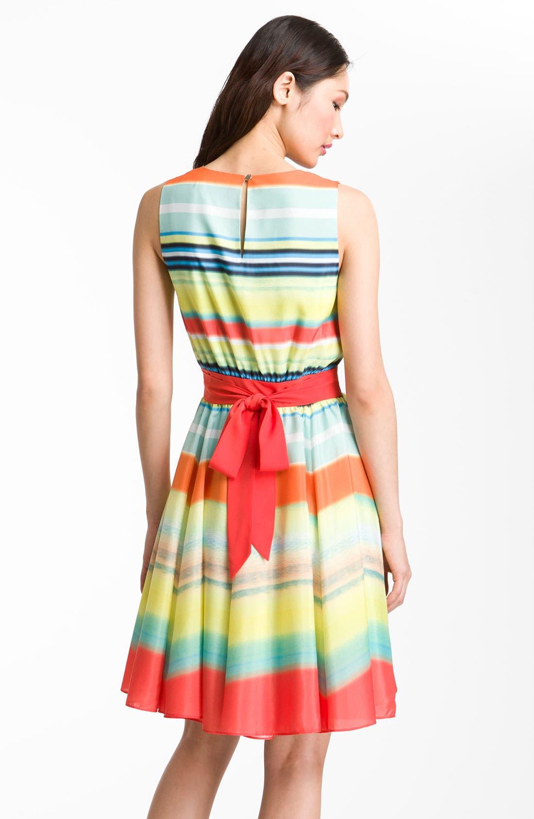 Alternate Image 2  - Ted Baker London 'Sunset Stripe' Full Skirt Dress