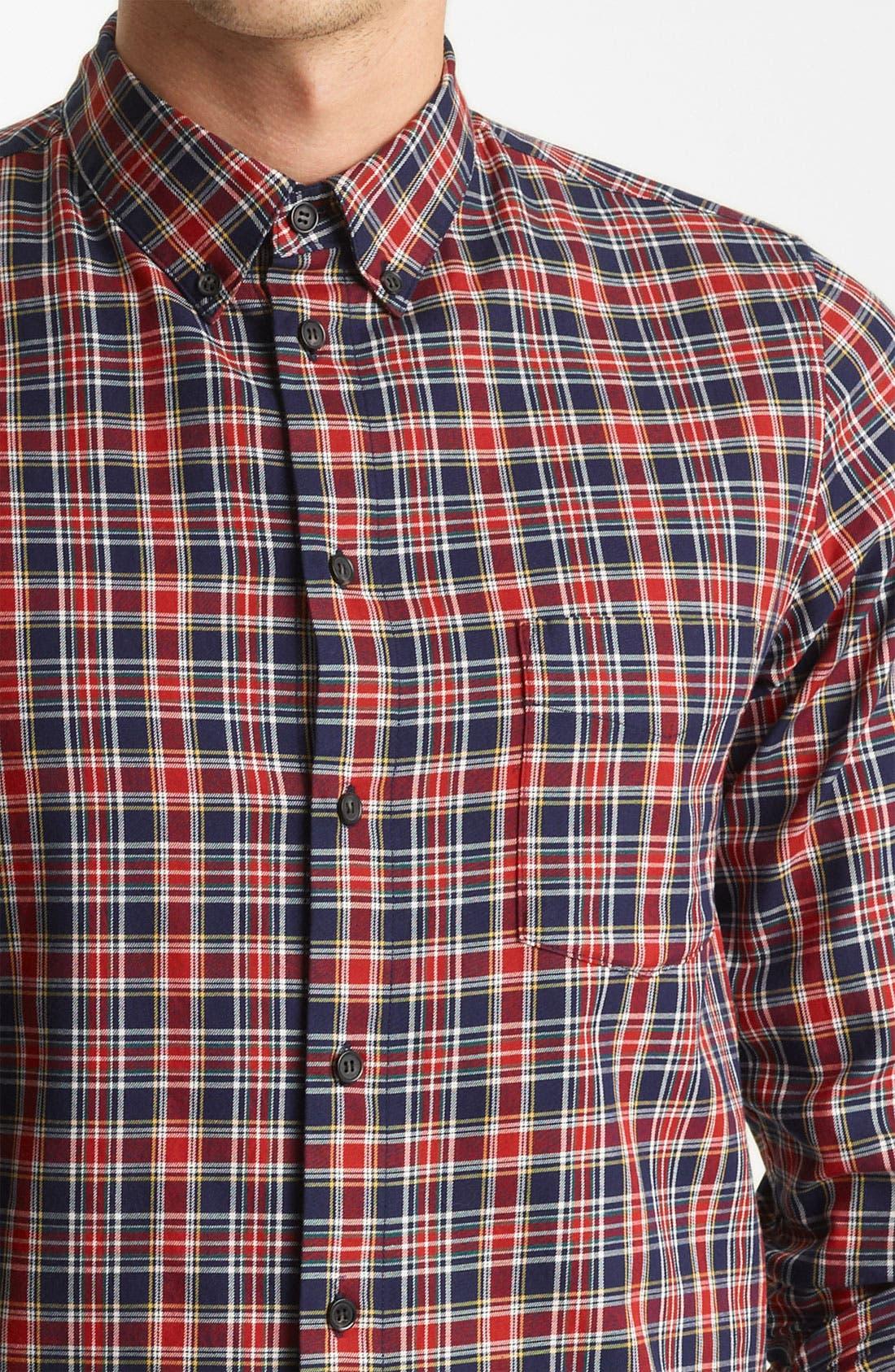 Alternate Image 3  - A.P.C. 'Vintage' Plaid Cotton Shirt