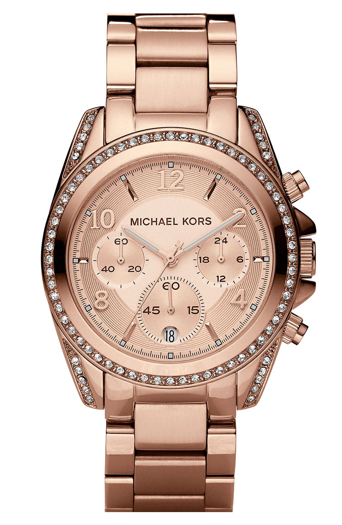 Michael Kors 'Blair' Chronograph Watch, 39mm,                         Main,                         color, Rose Gold