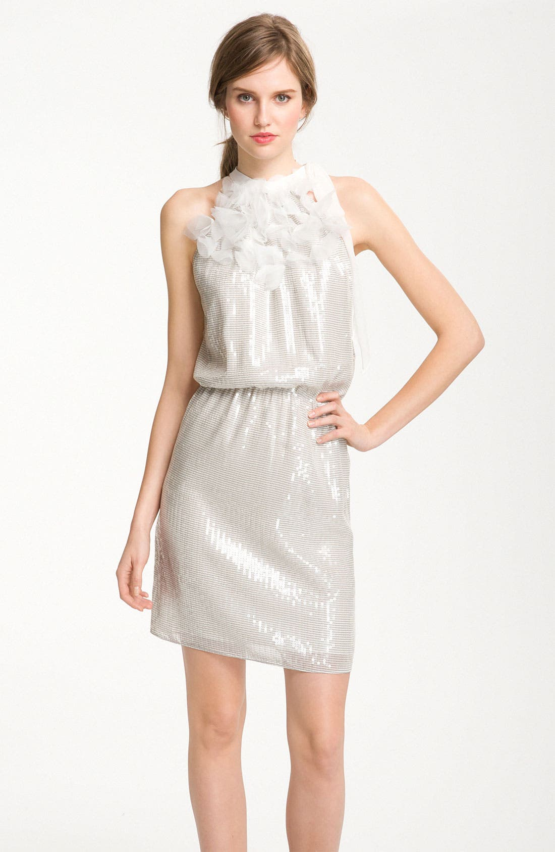 Alternate Image 1 Selected - Kathy Hilton Sequin Blouson Halter Dress