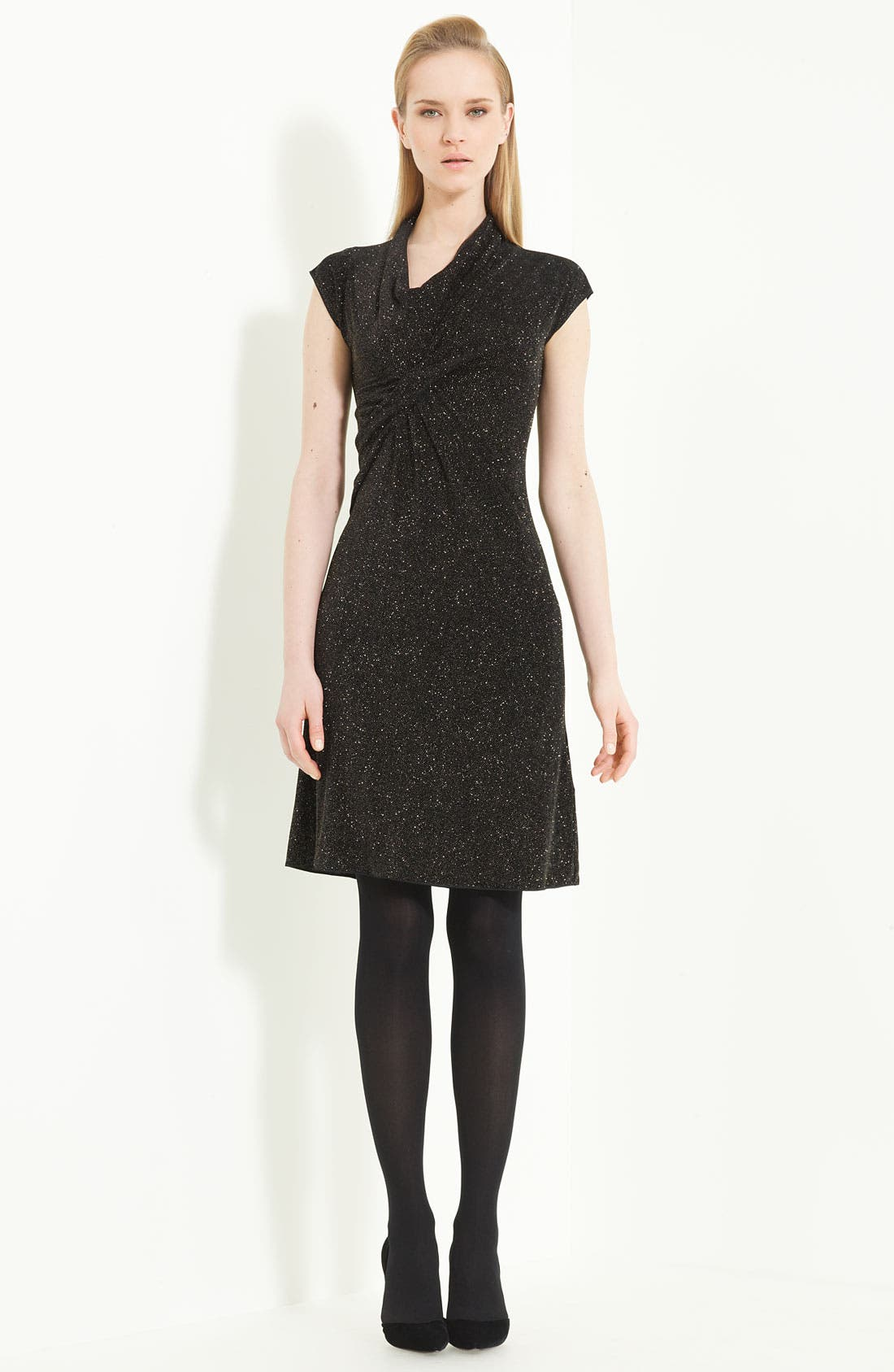 Alternate Image 1 Selected - Armani Collezioni 'Glitter Gold' Jersey Dress