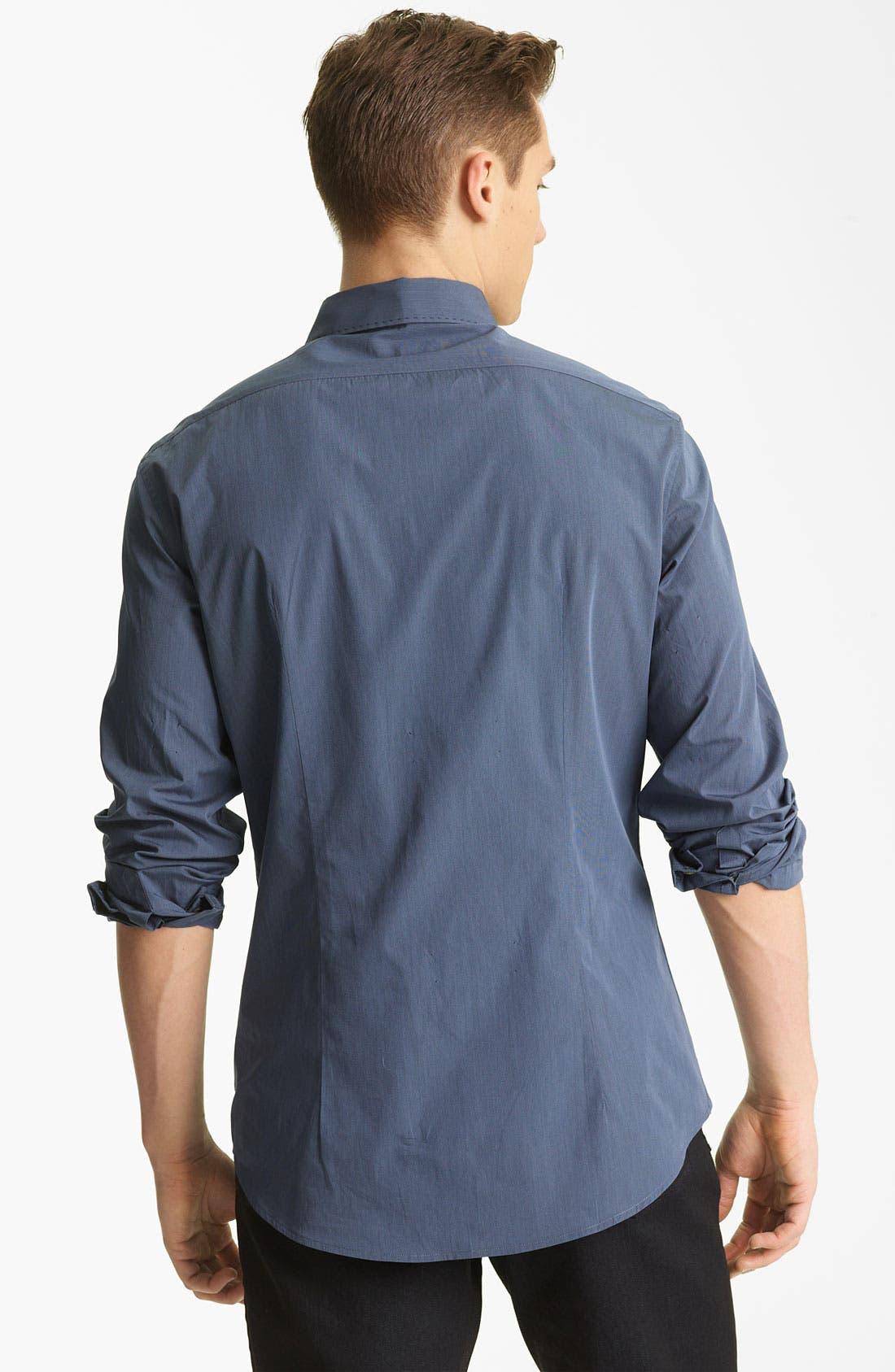 Alternate Image 2  - John Varvatos Collection Pickstitch Woven Shirt