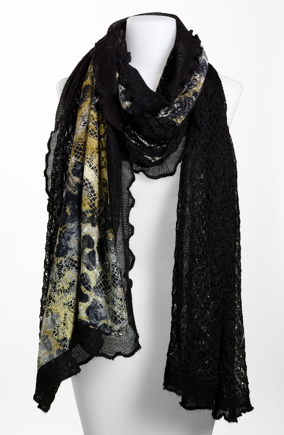 Alternate Image 1 Selected - Nordstrom Collection Knit Lace Wrap