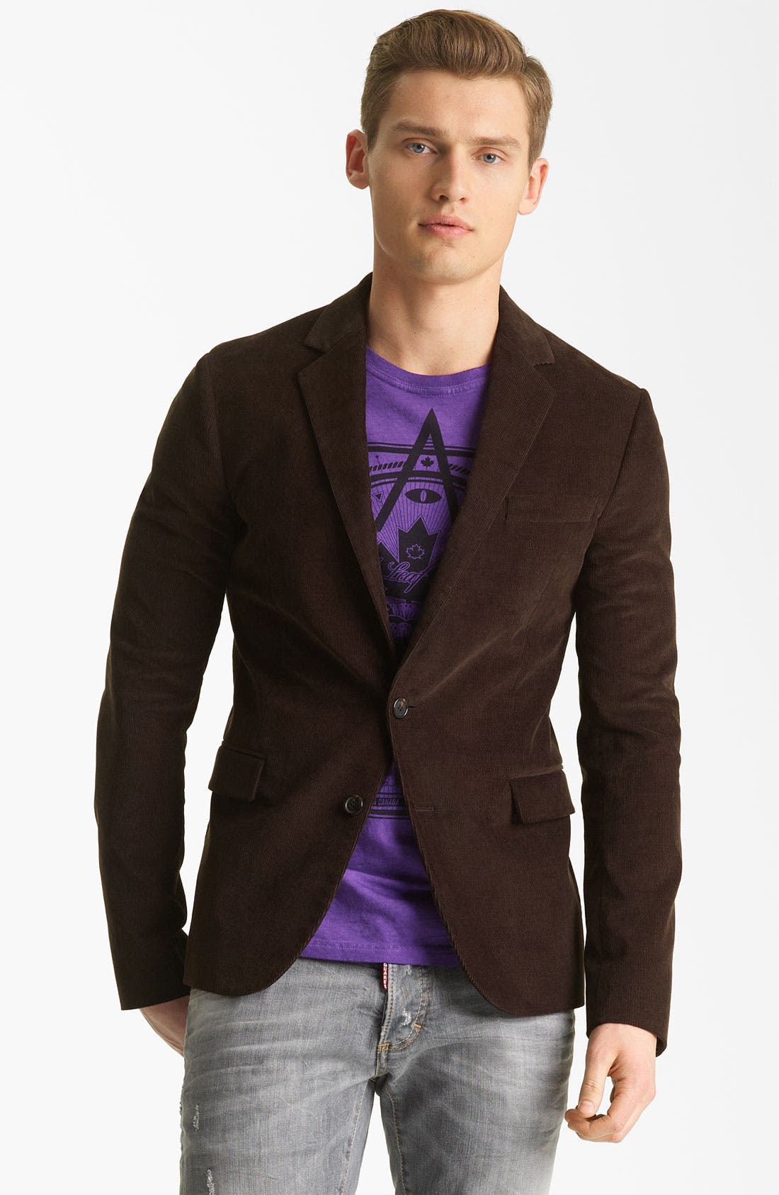 Alternate Image 1 Selected - Dsquared2 'Tokyo' Corduroy Blazer
