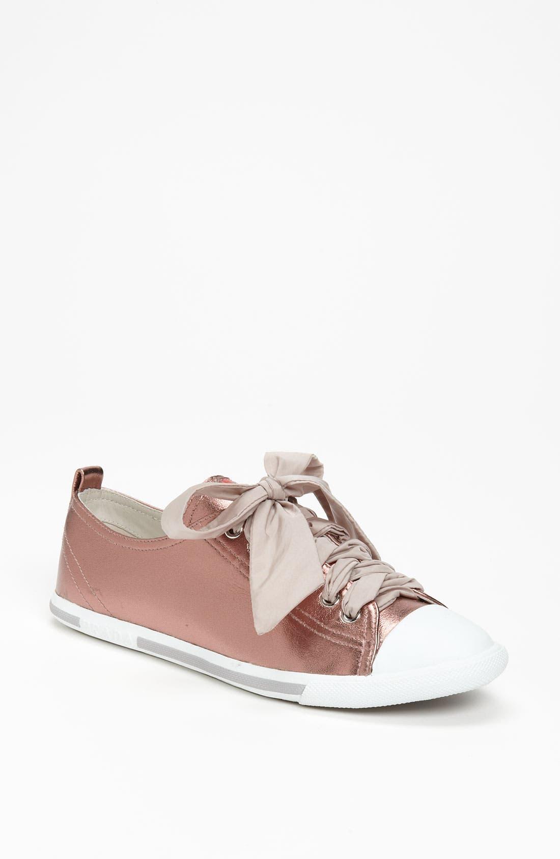 Alternate Image 1 Selected - Prada Metallic Sneaker