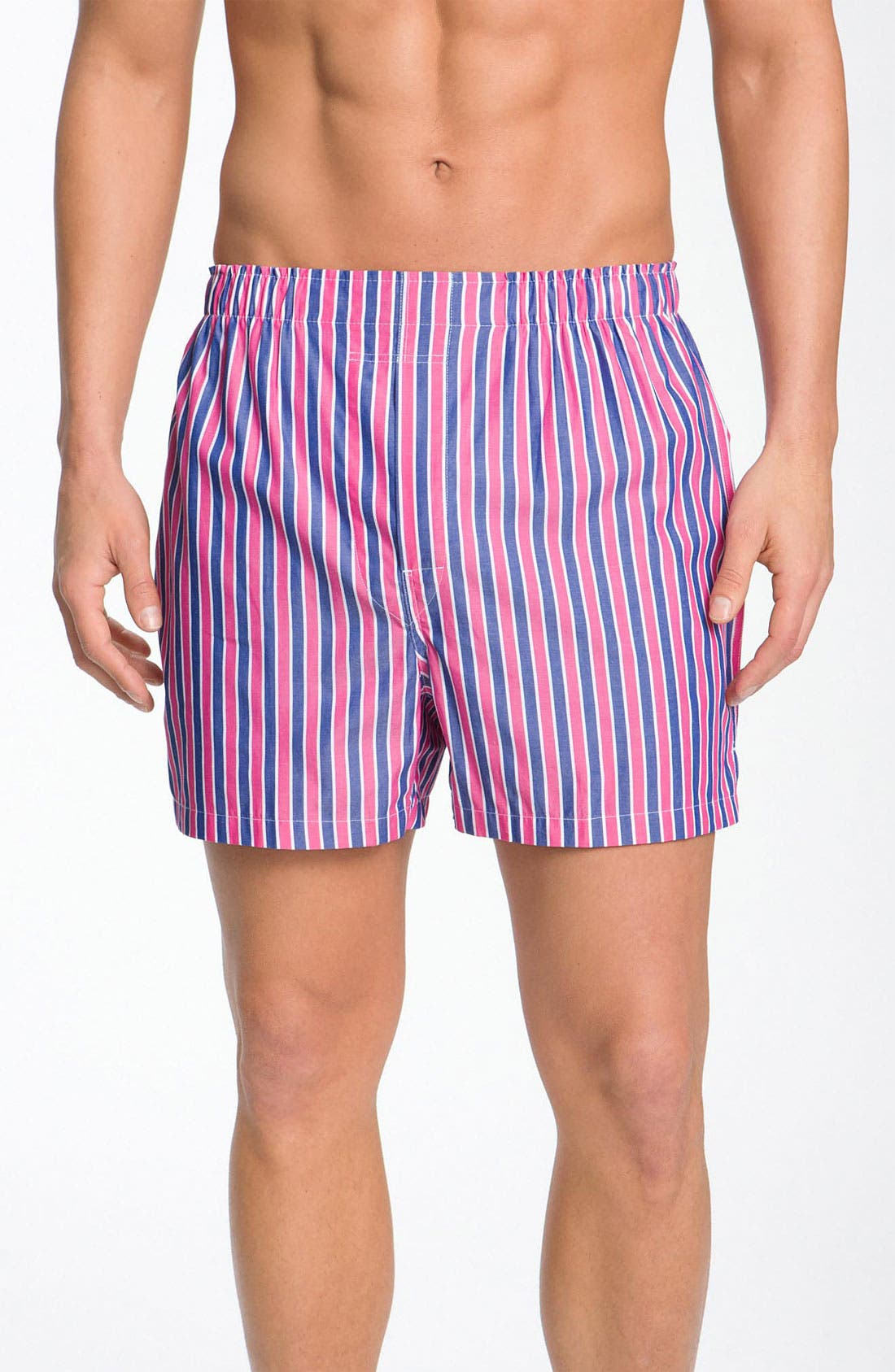 Alternate Image 1 Selected - Brooks Brothers Bar Stripe Boxers