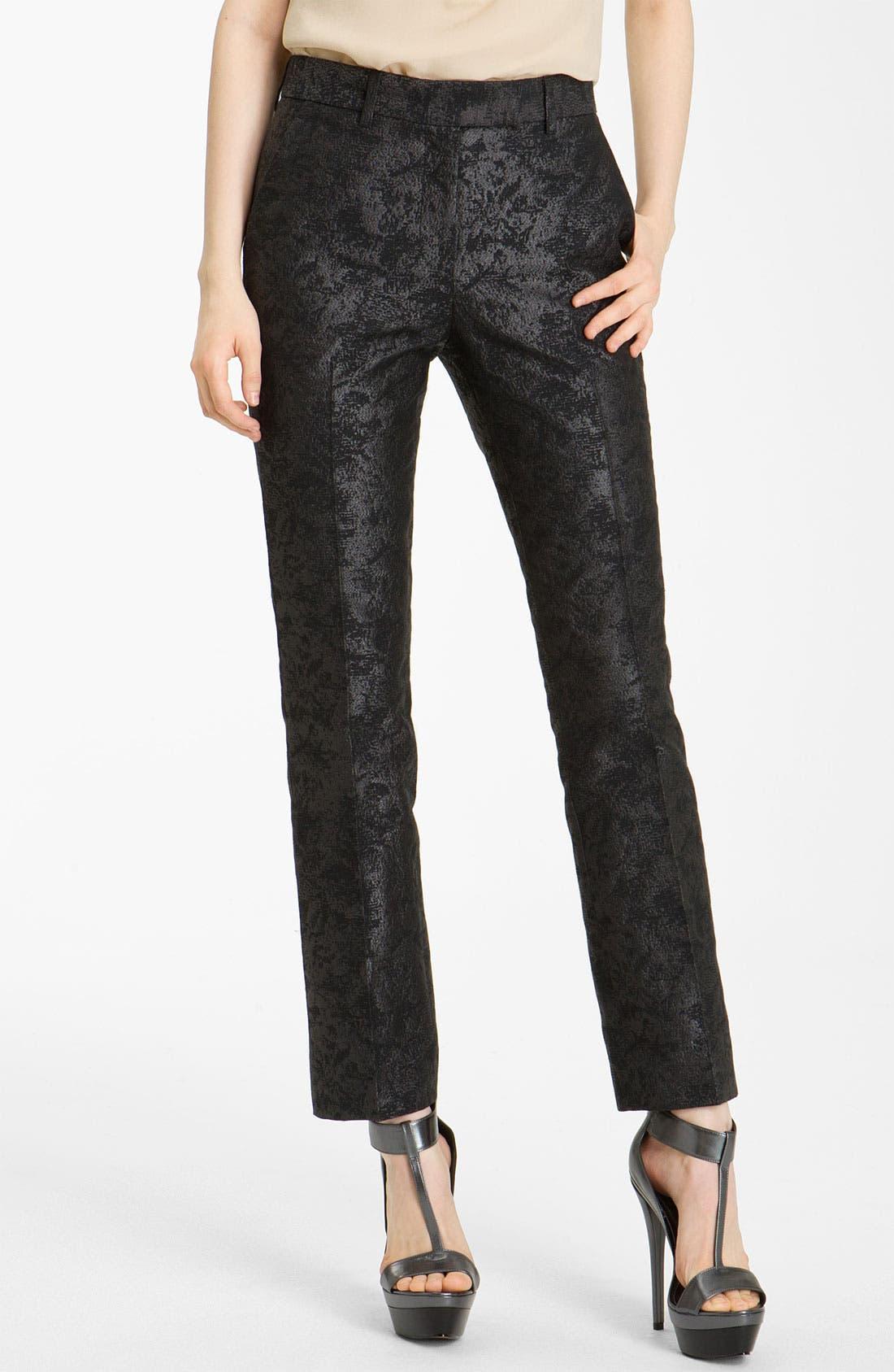 Alternate Image 1 Selected - Rachel Zoe 'Anne II' Slim Brocade Pants