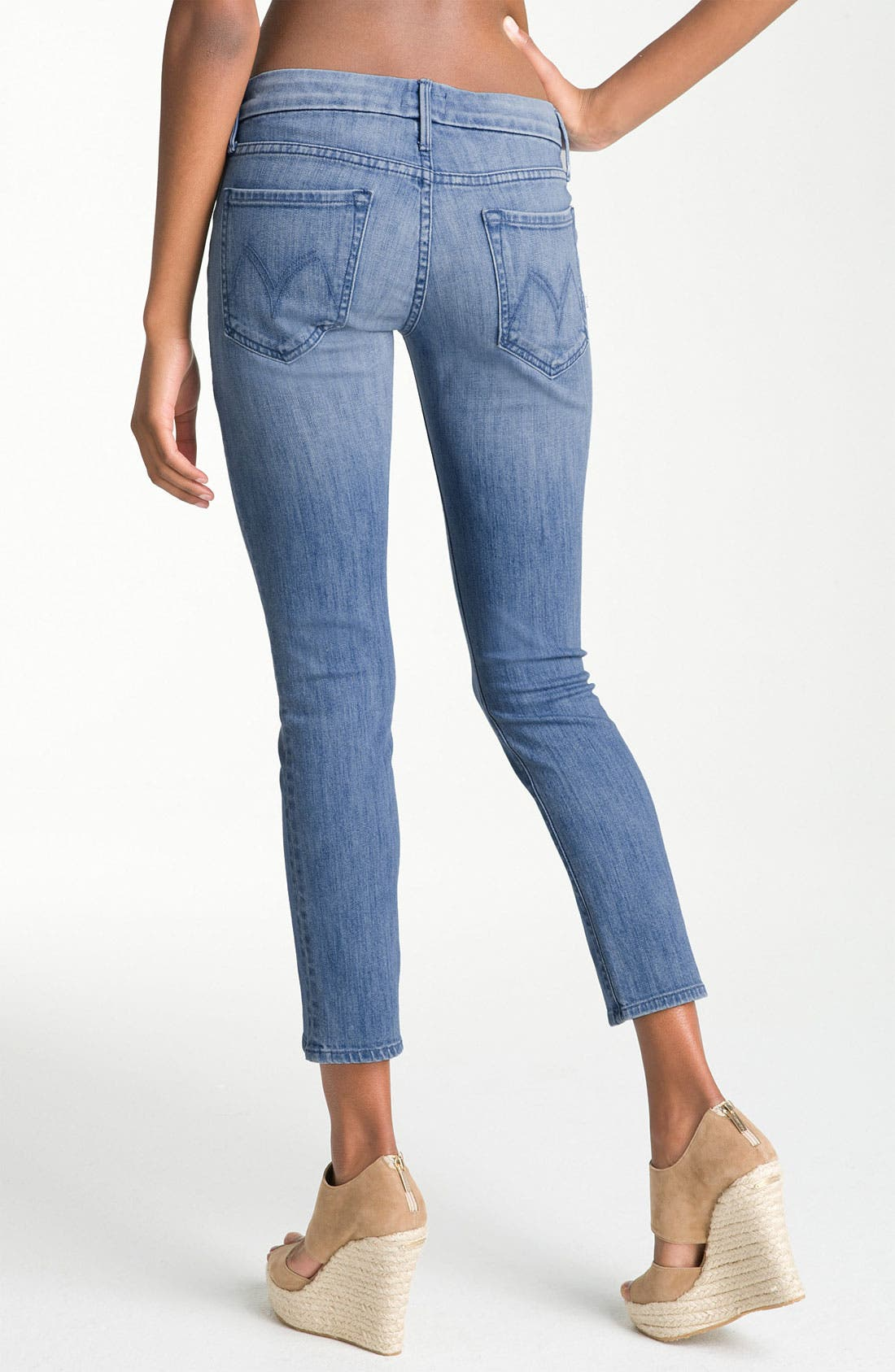 Alternate Image 2  - MOTHER 'The Cropped Looker' Stretch Skinny Jeans (French Quarter)