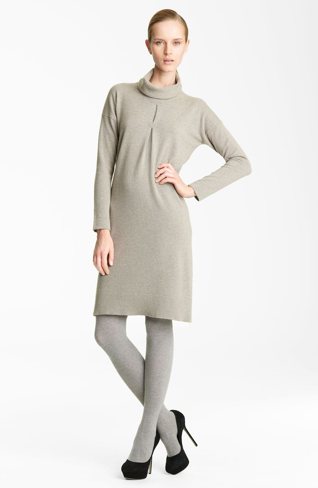 Main Image - Fabiana Filippi Turtleneck Cashmere Dress