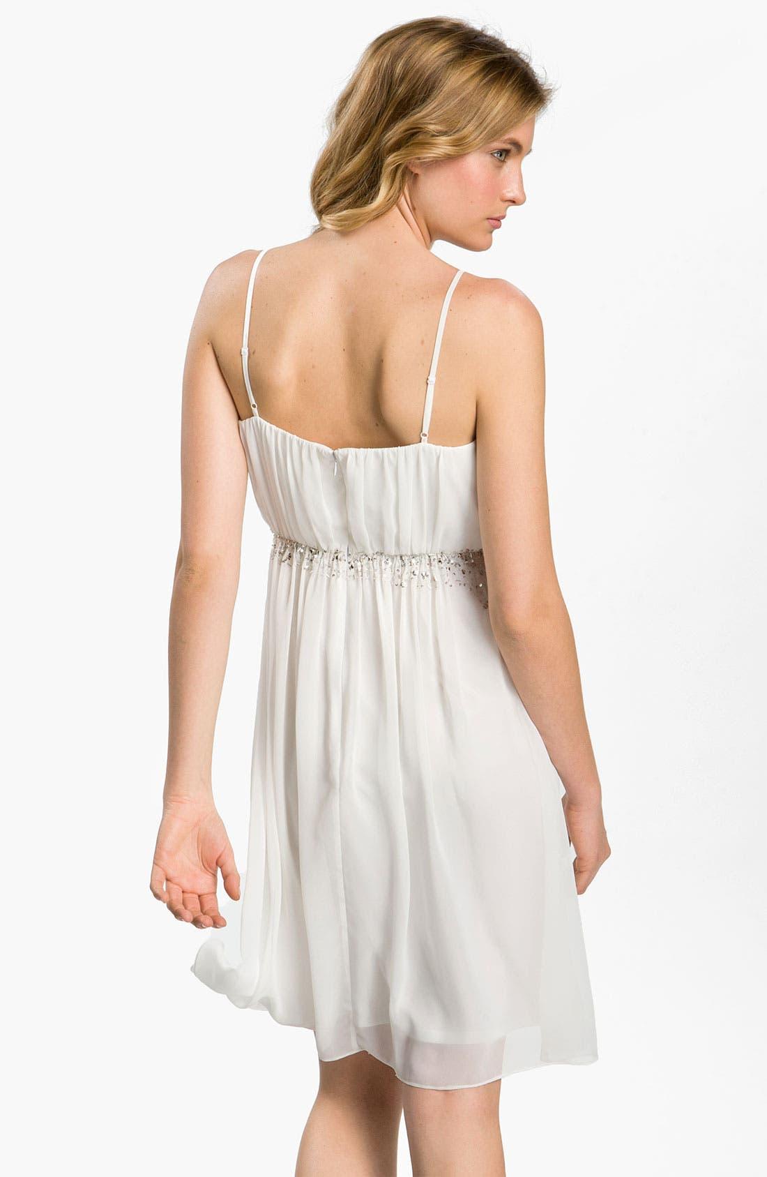 Alternate Image 2  - Calvin Klein Embellished Chiffon Dress