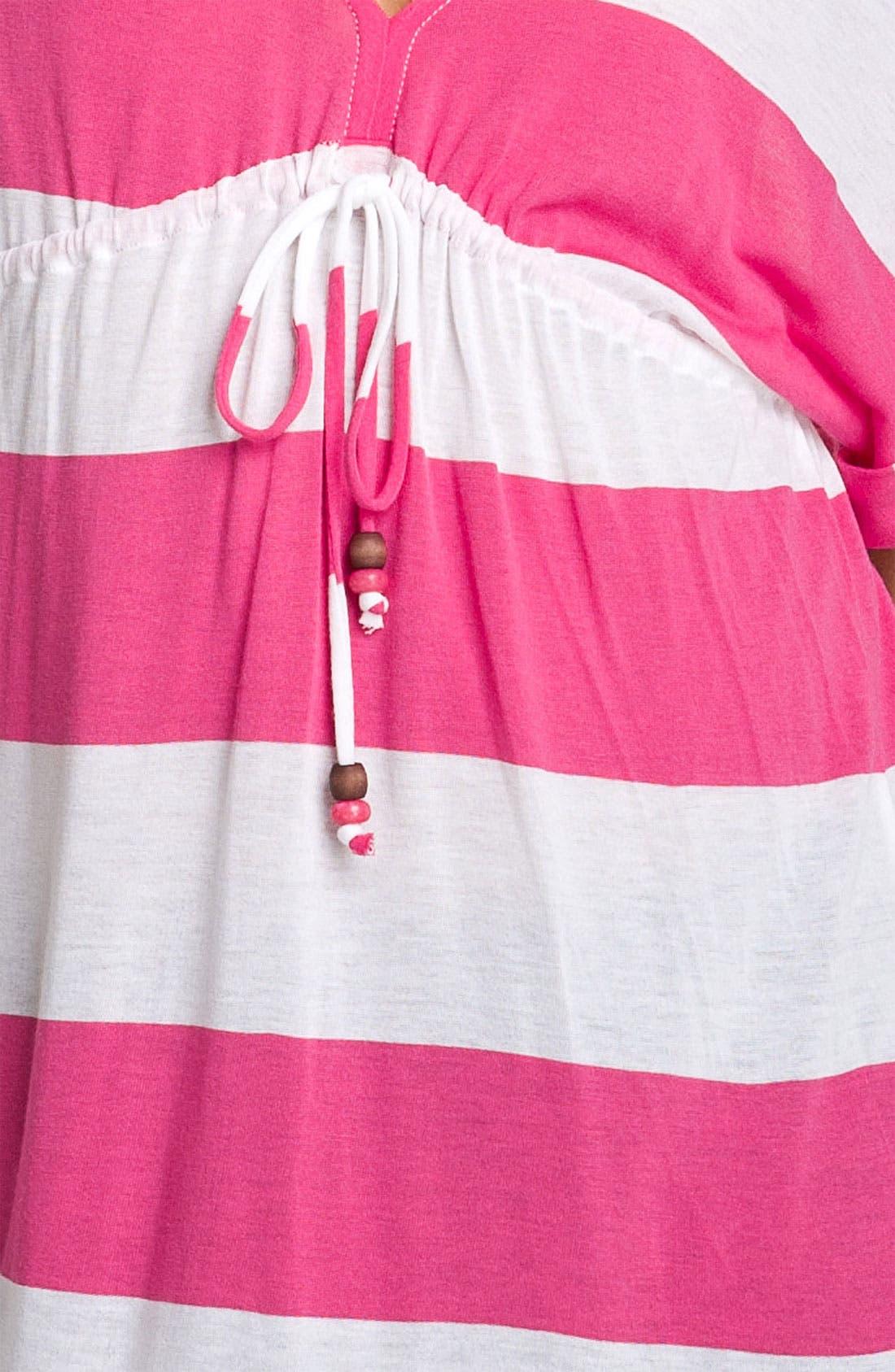 Alternate Image 3  - Ella Moss 'Vida Stripe' Drawstring Dolman Top