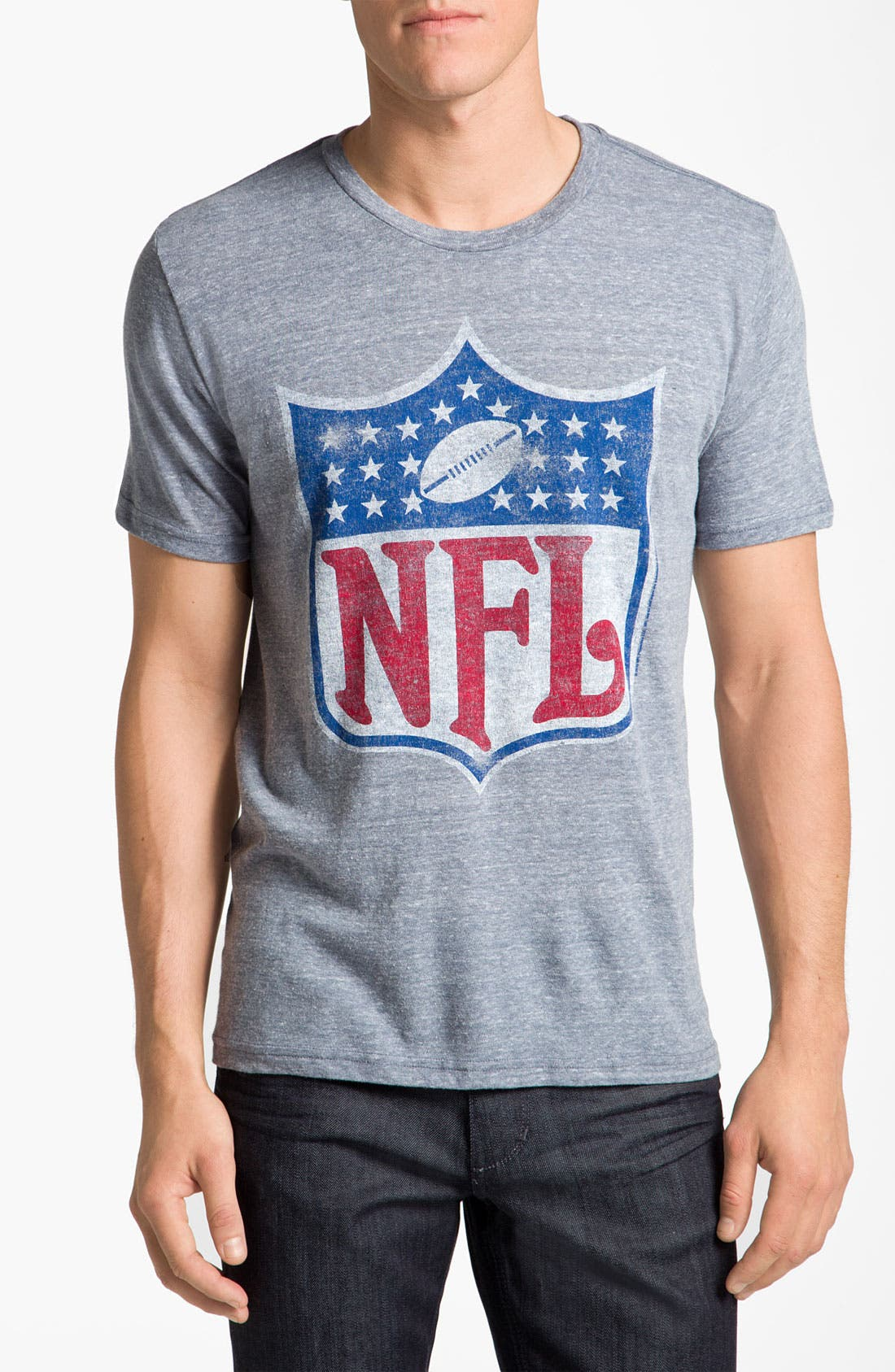 Alternate Image 1 Selected - Junk Food NFL Shield Graphic Crewneck T-Shirt