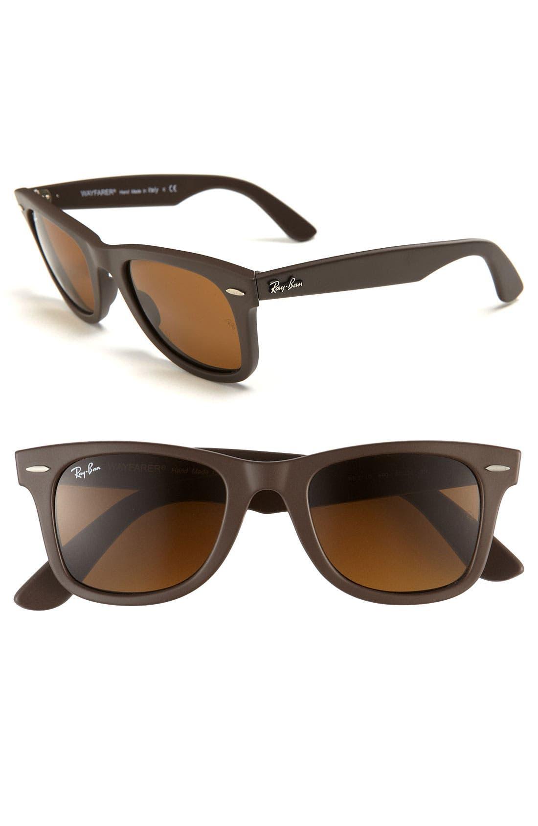 'Classic Wayfarer' 50mm Sunglasses,                         Main,                         color, Matte Brown/ Brown