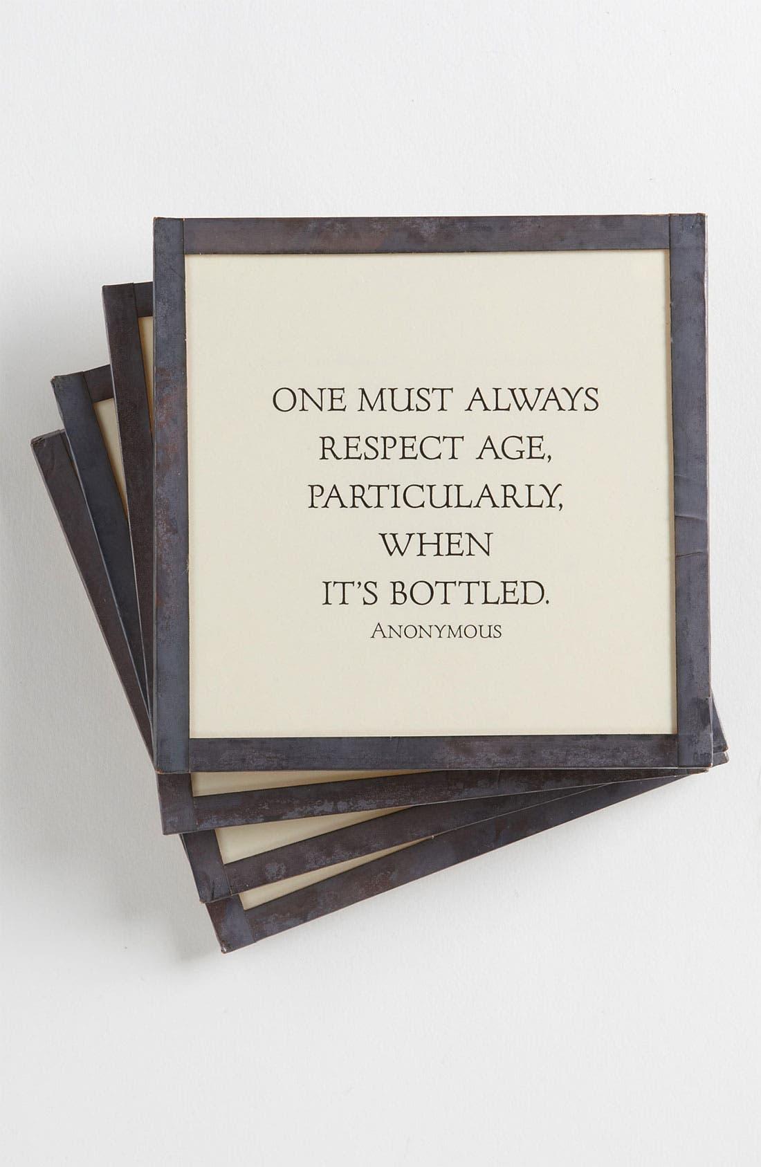 Alternate Image 1 Selected - Ben's Garden 'Respect Age' Coaster Set