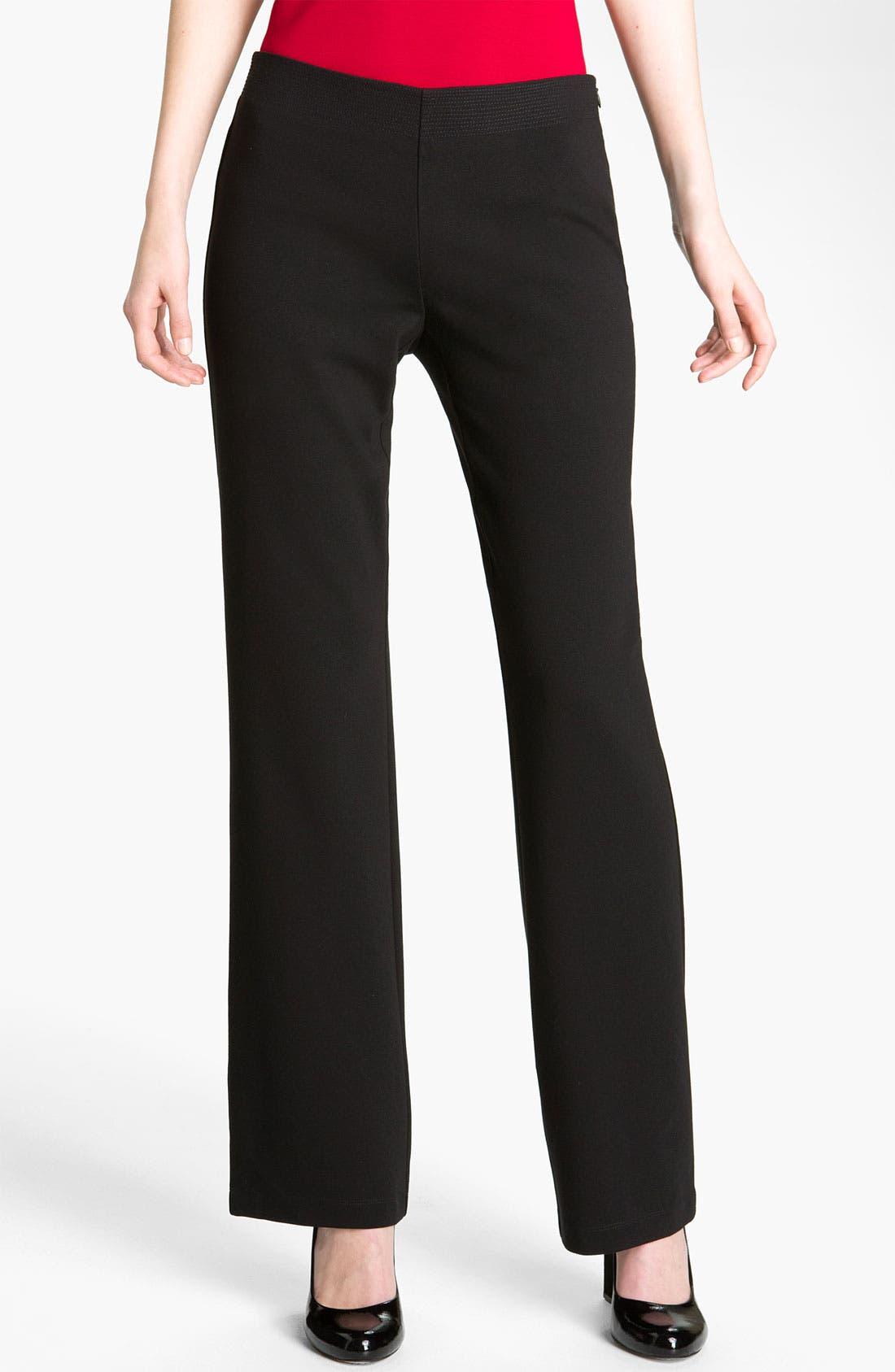 Main Image - Eileen Fisher 'Milano' Straight Leg Knit Pants