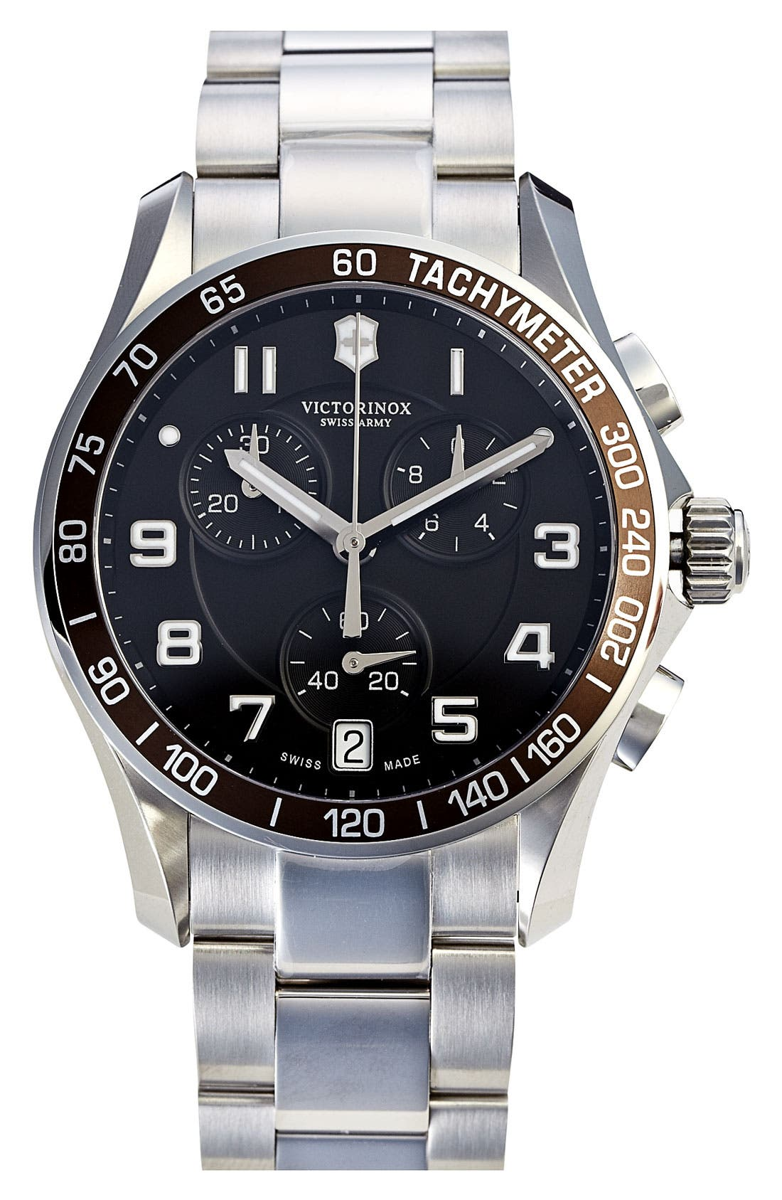 'Chrono Classic' Bracelet Watch, 41mm,                         Main,                         color, Brown/ Silver