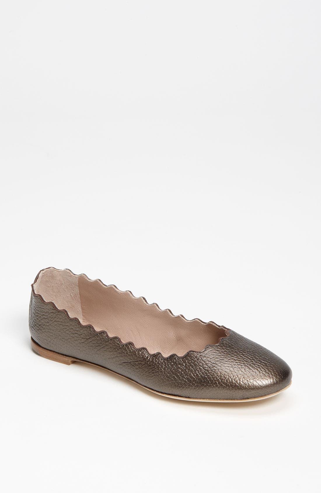 Alternate Image 1 Selected - Chloé Scalloped Ballet Flat