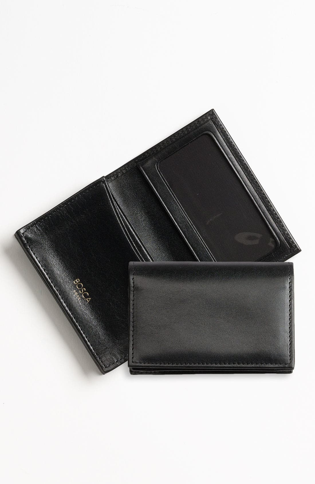 'Old Leather' Gusset Wallet,                         Main,                         color, Black