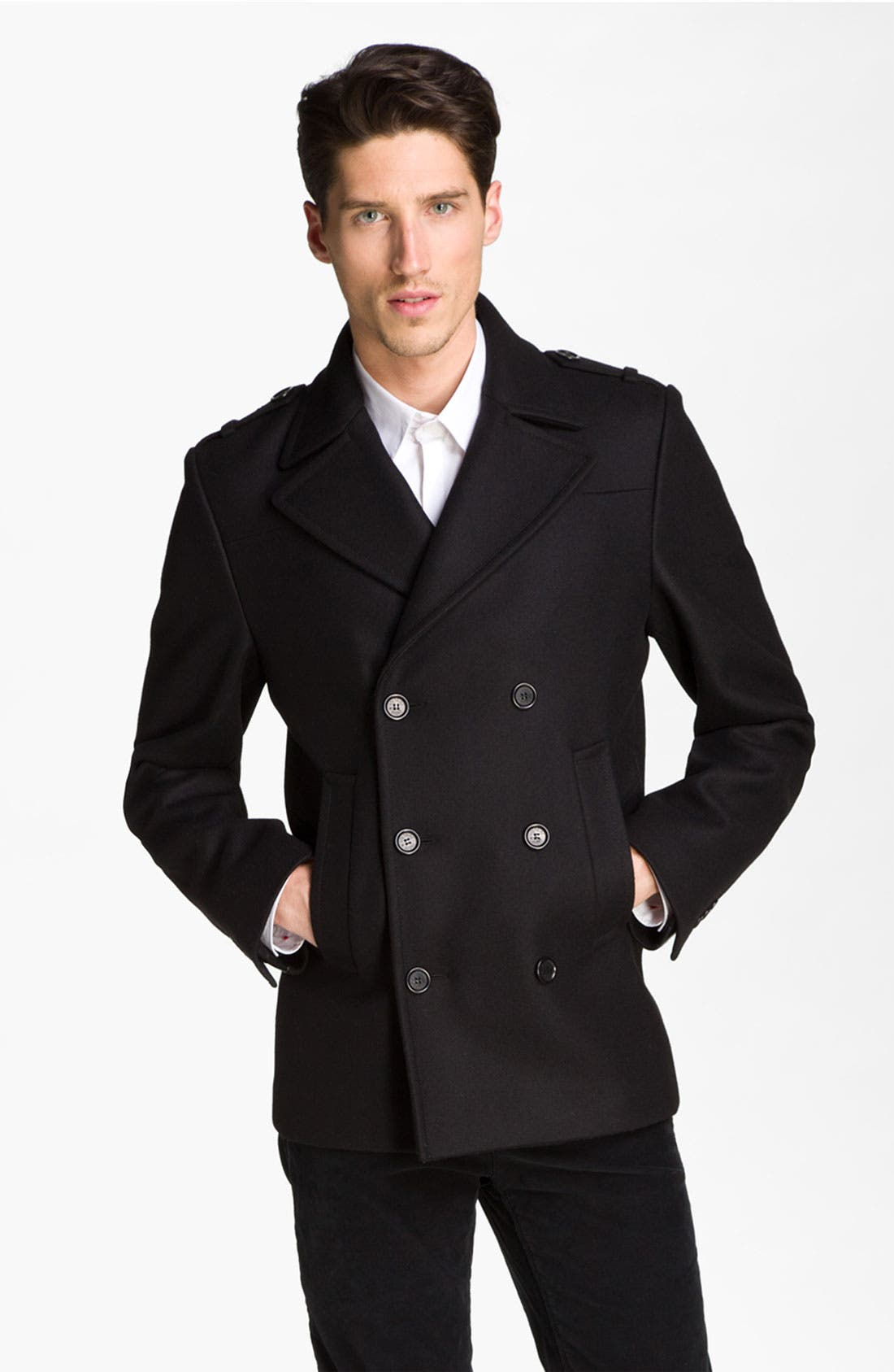 Alternate Image 1 Selected - Zadig & Voltaire Double Breasted Peacoat