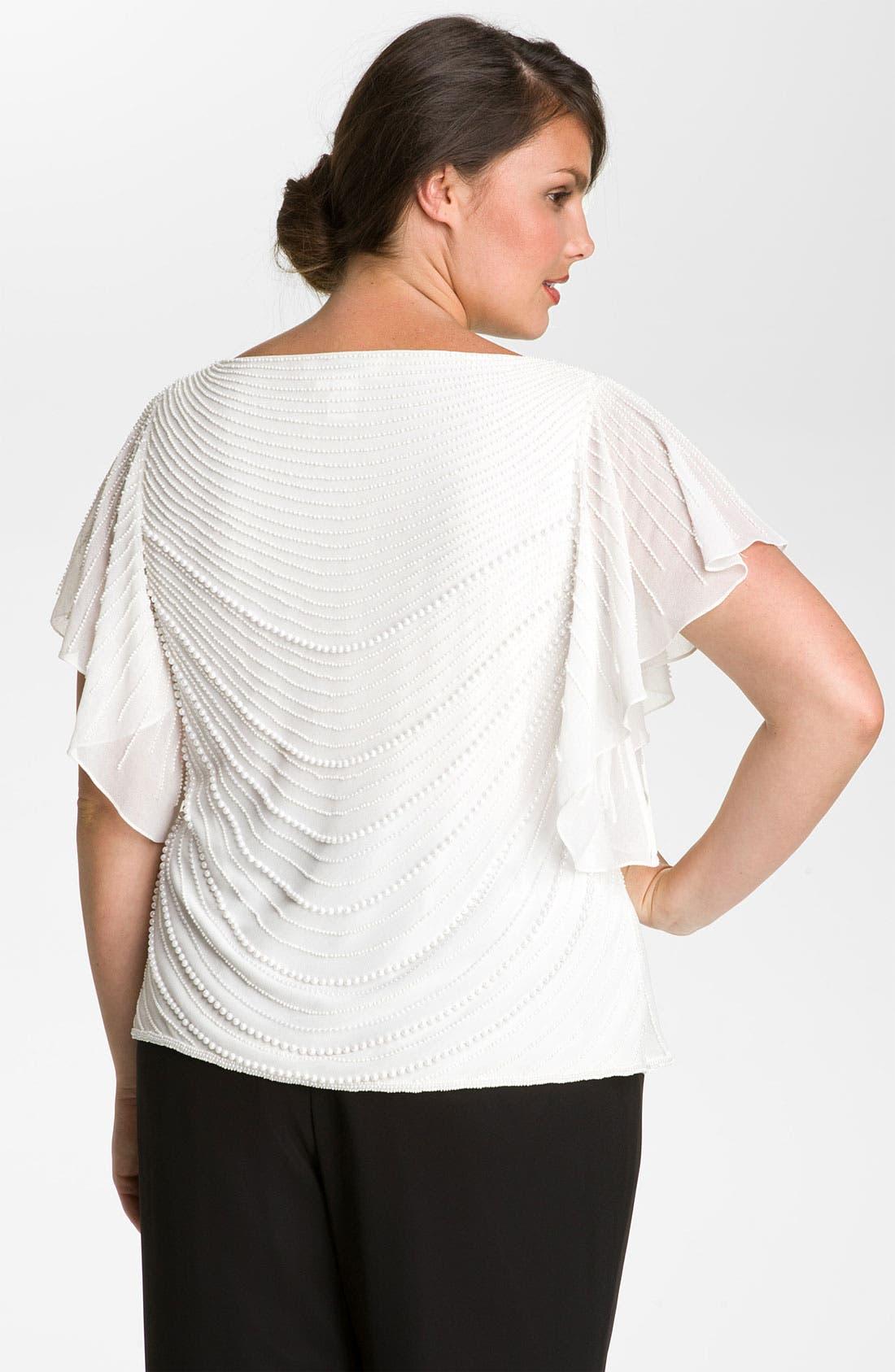 Alternate Image 2  - J Kara Pearl Embellished Top (Plus)