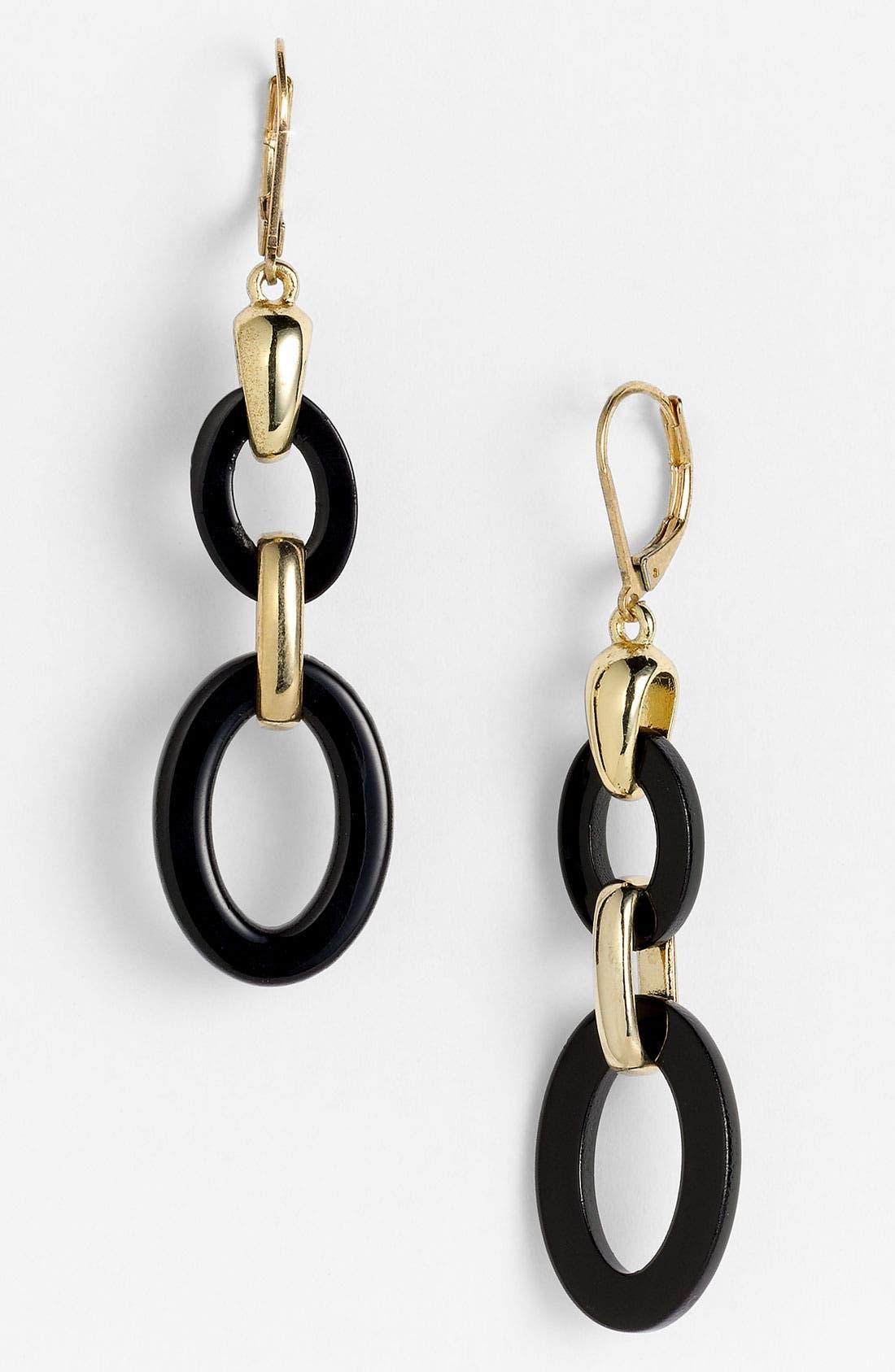 Alternate Image 1 Selected - Anne Klein Double Link Earrings