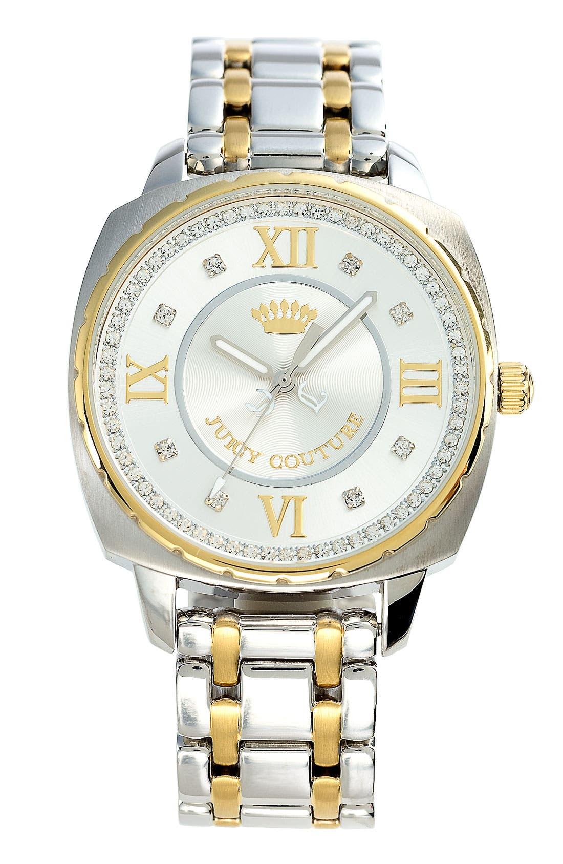 Alternate Image 1 Selected - Juicy Couture 'Beau' Bracelet Watch, 40mm