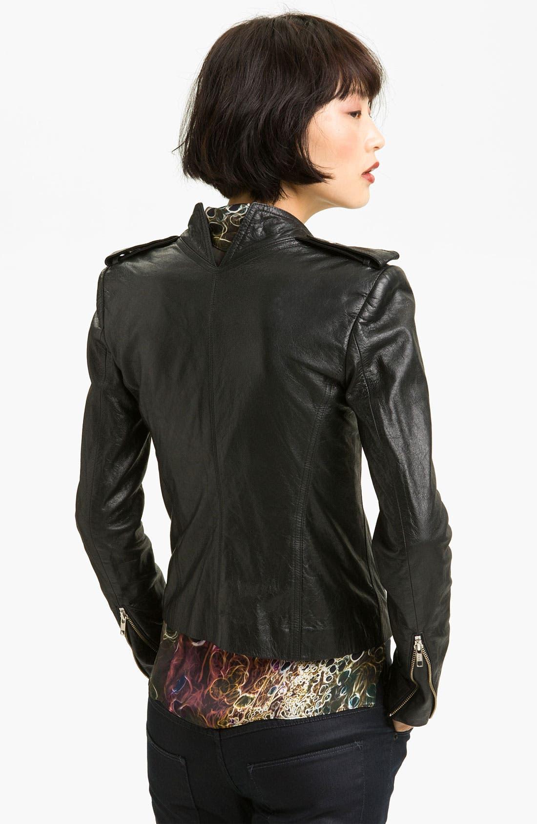 Alternate Image 2  - Theyskens' Theory Leather Moto Jacket