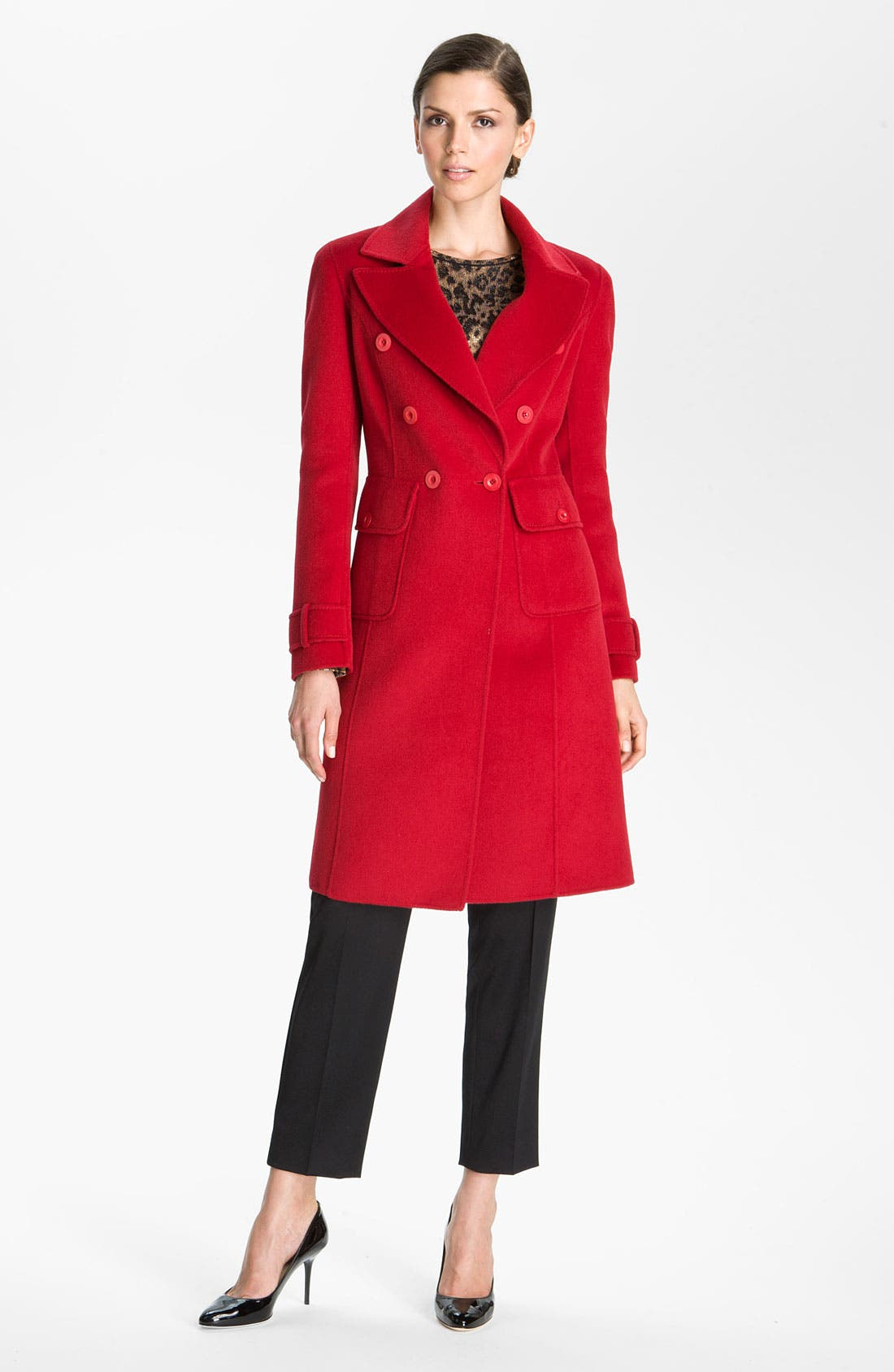 Alternate Image 1 Selected - St. John Collection Angora Blend Coat