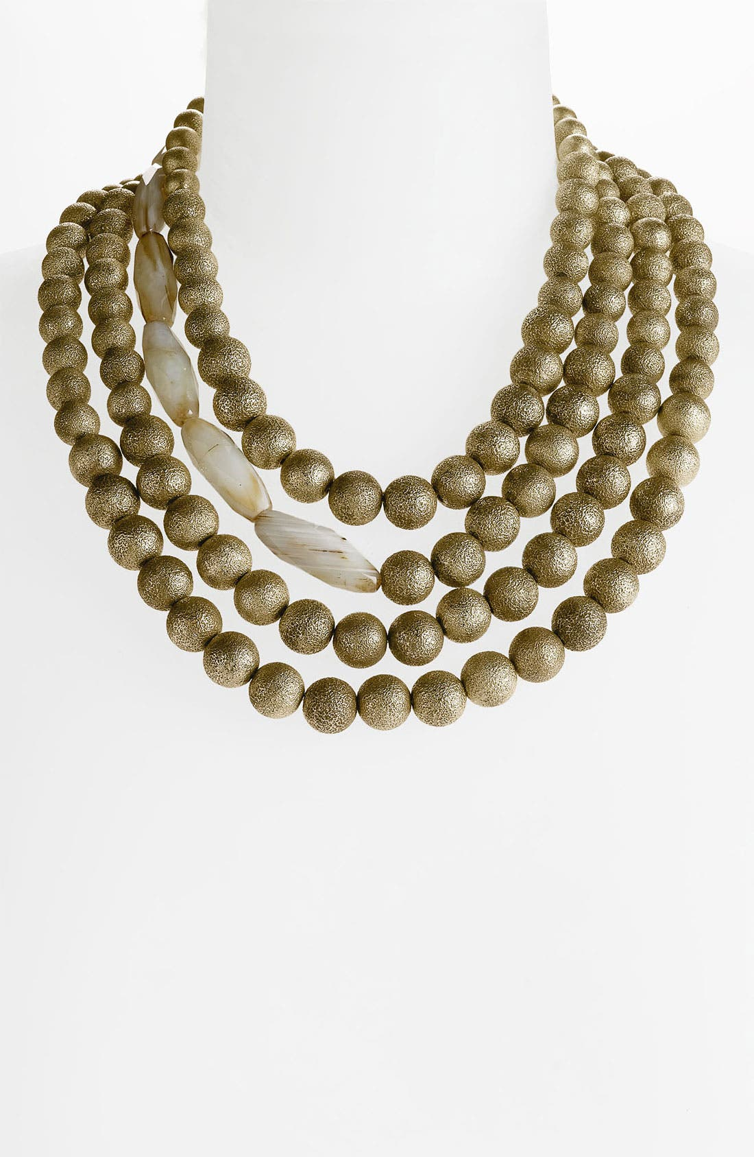 Alternate Image 1 Selected - St. John Collection Bead & Agate Multistrand Necklace