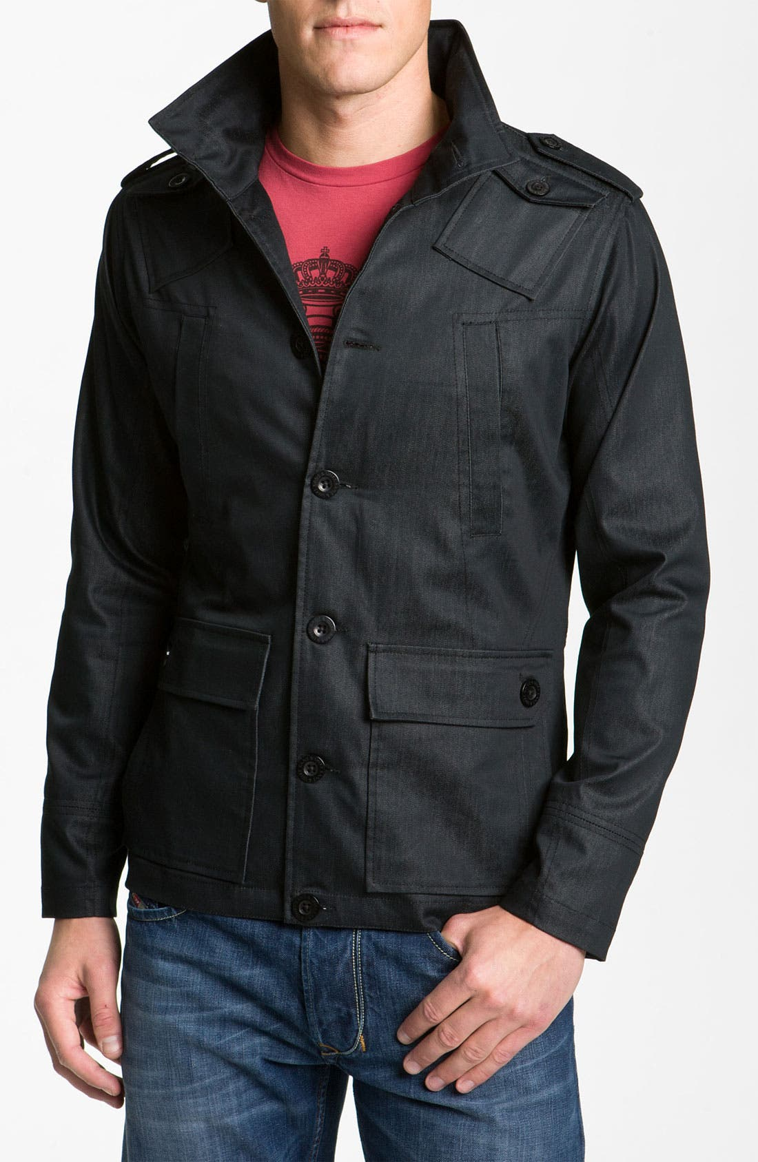 Alternate Image 1 Selected - Kane & Unke Trim Fit Military Jacket