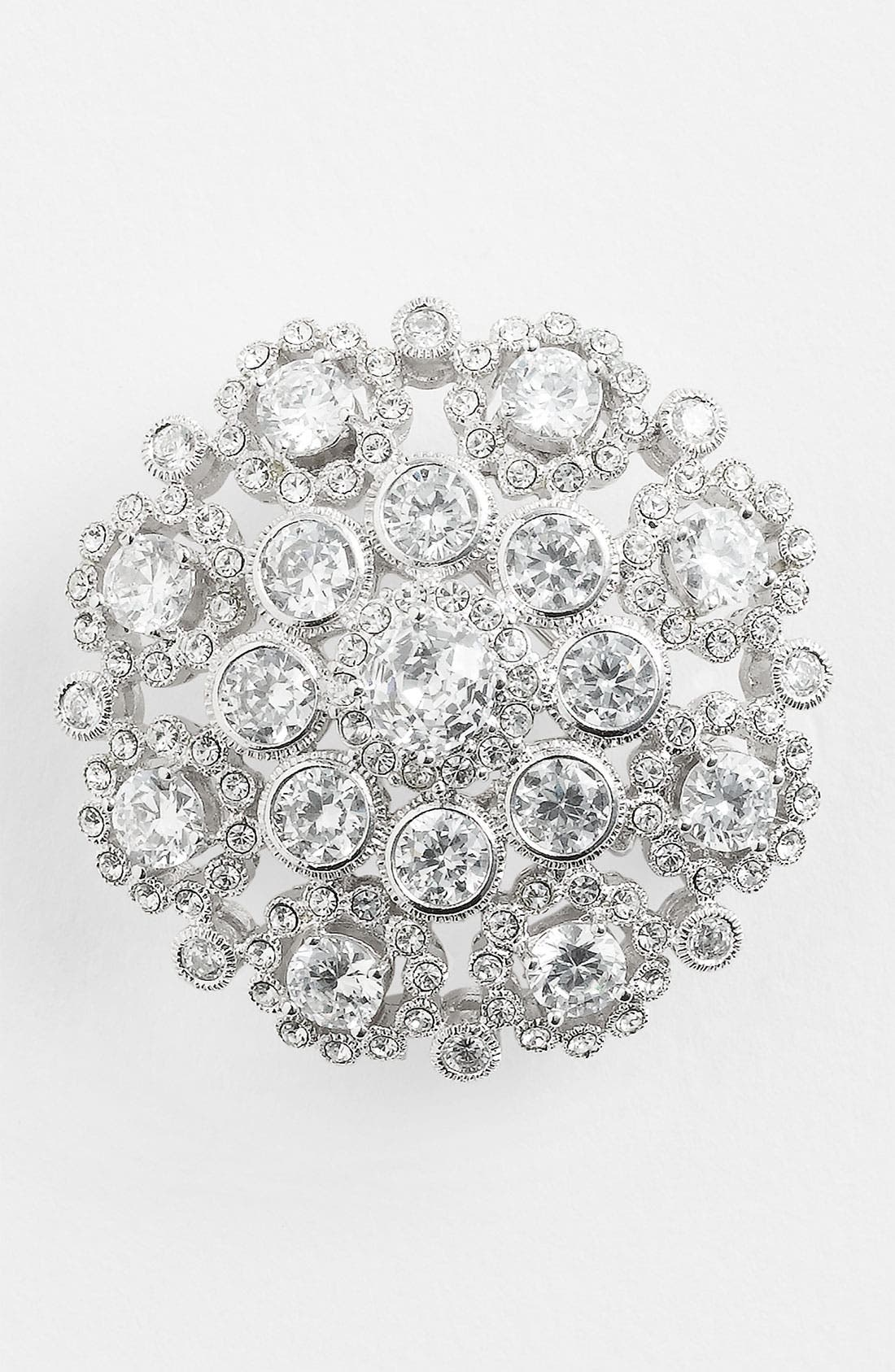 Alternate Image 1 Selected - Nadri Round Cubic Zirconia Brooch (Nordstrom Exclusive)