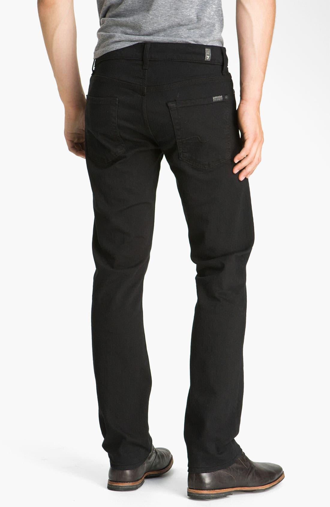 Alternate Image 2  - 7 For All Mankind® 'Slimmy' Slim Fit Jeans (Black Out)