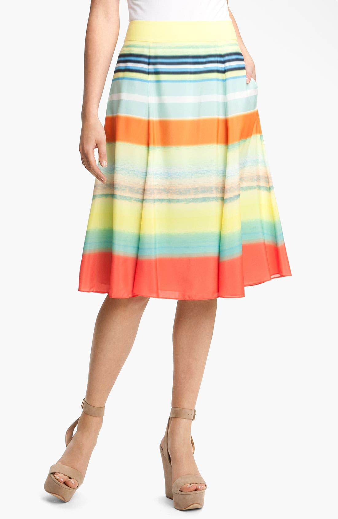 Alternate Image 1 Selected - Ted Baker London Stripe Pleated Skirt