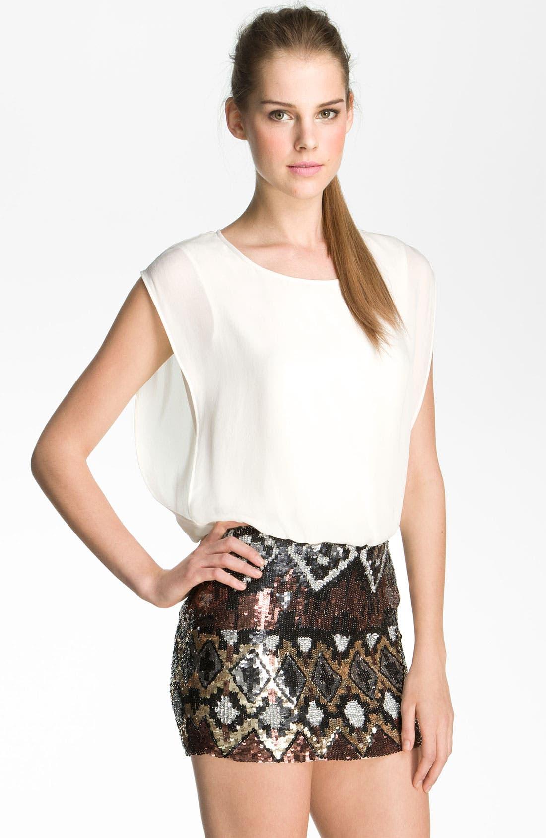 Alternate Image 1 Selected - Parker Sequin Silk Dress