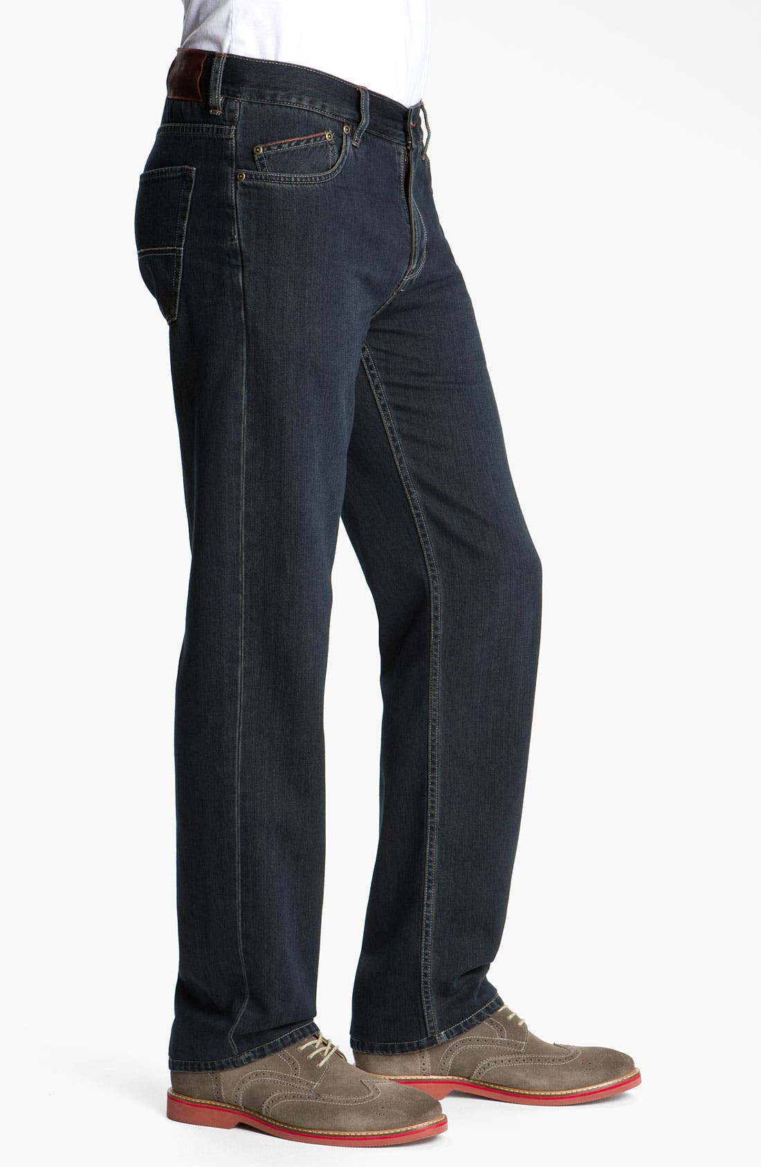 Alternate Image 2  - Tommy Bahama Denim 'Standard Island Ease' Straight Leg Jeans (Blue Black Overdye)