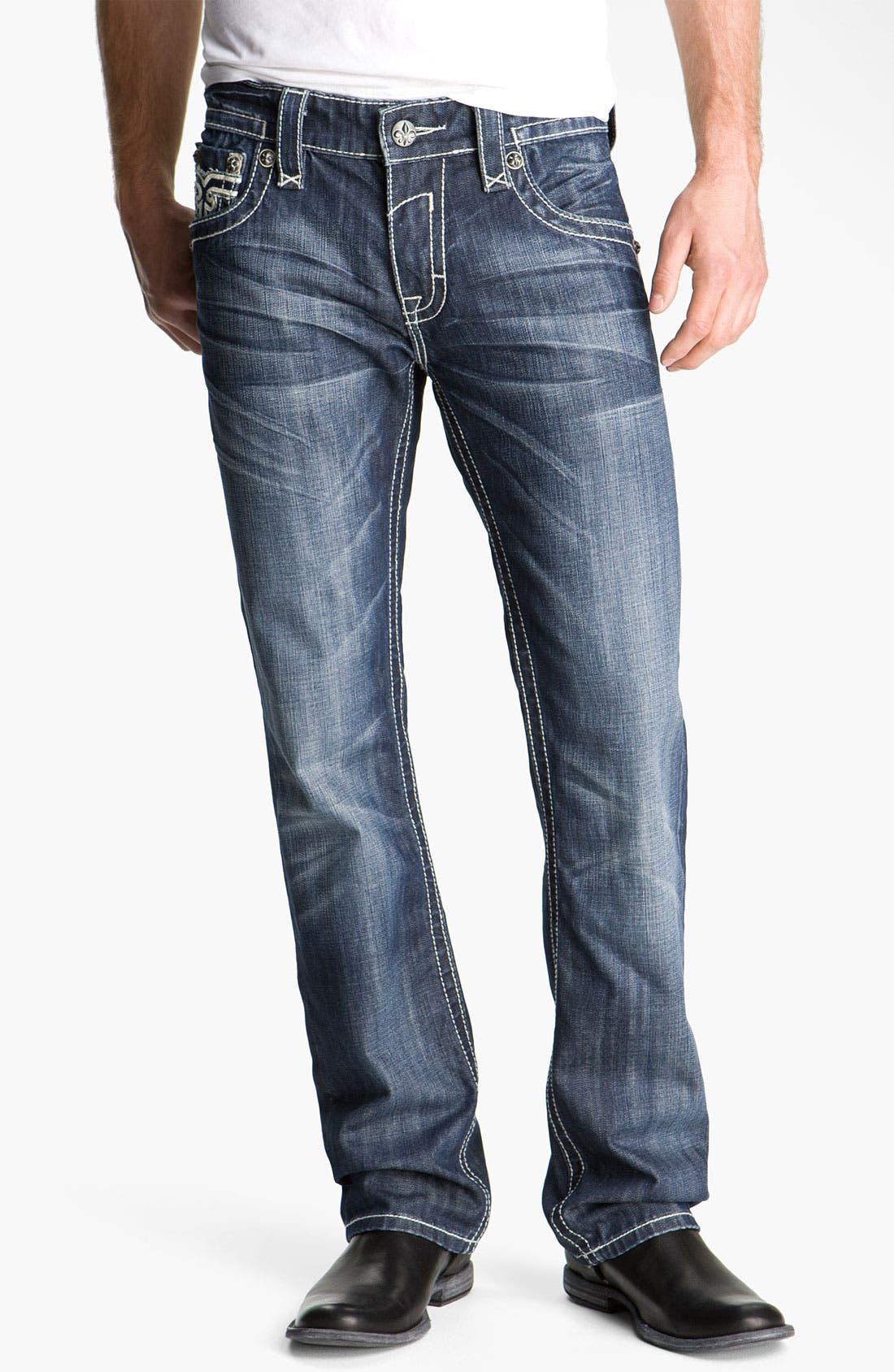 Alternate Image 2  - Rock Revival 'Paul' Straight Leg Jeans (Blue)