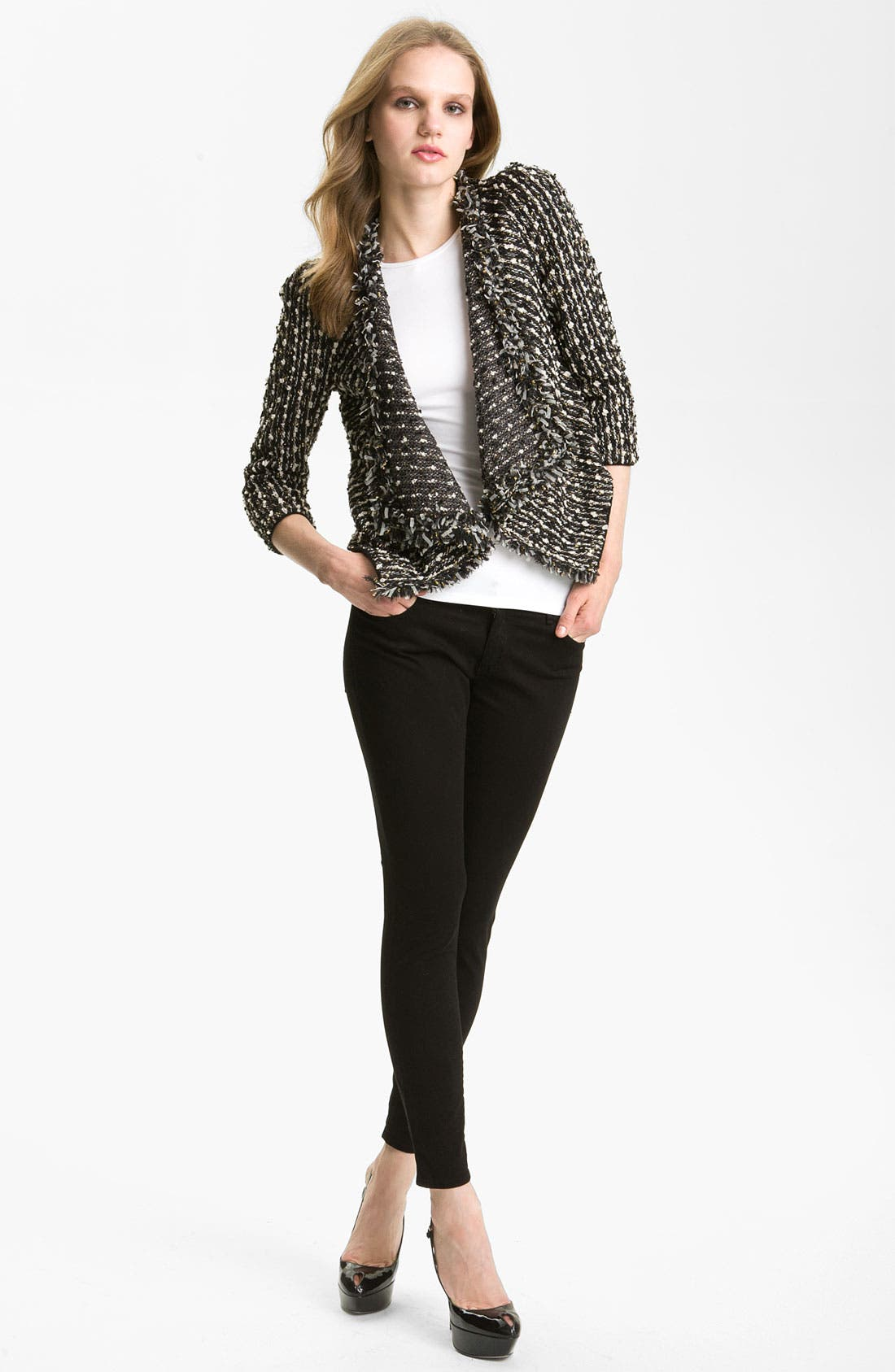 Main Image - Mcginn Sequin Knit Open Cardigan (Nordstrom Exclusive)
