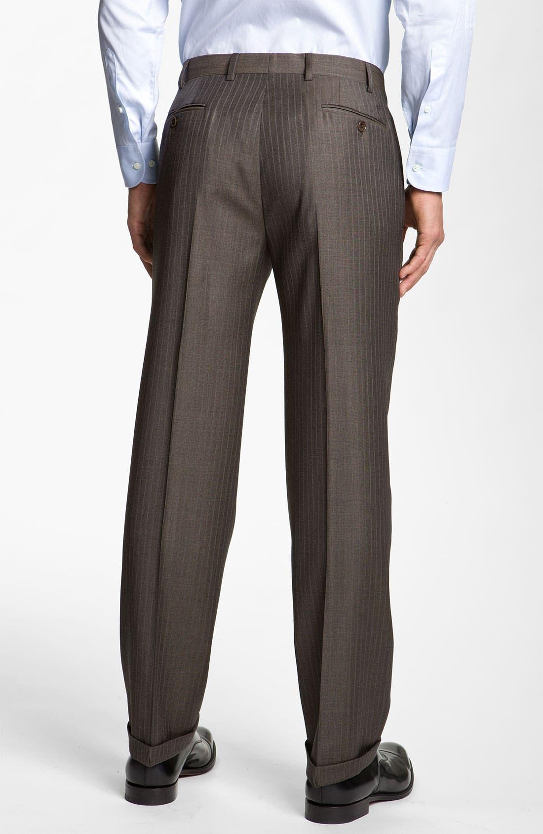 Alternate Image 5  - Armani Collezioni Stripe Wool Suit