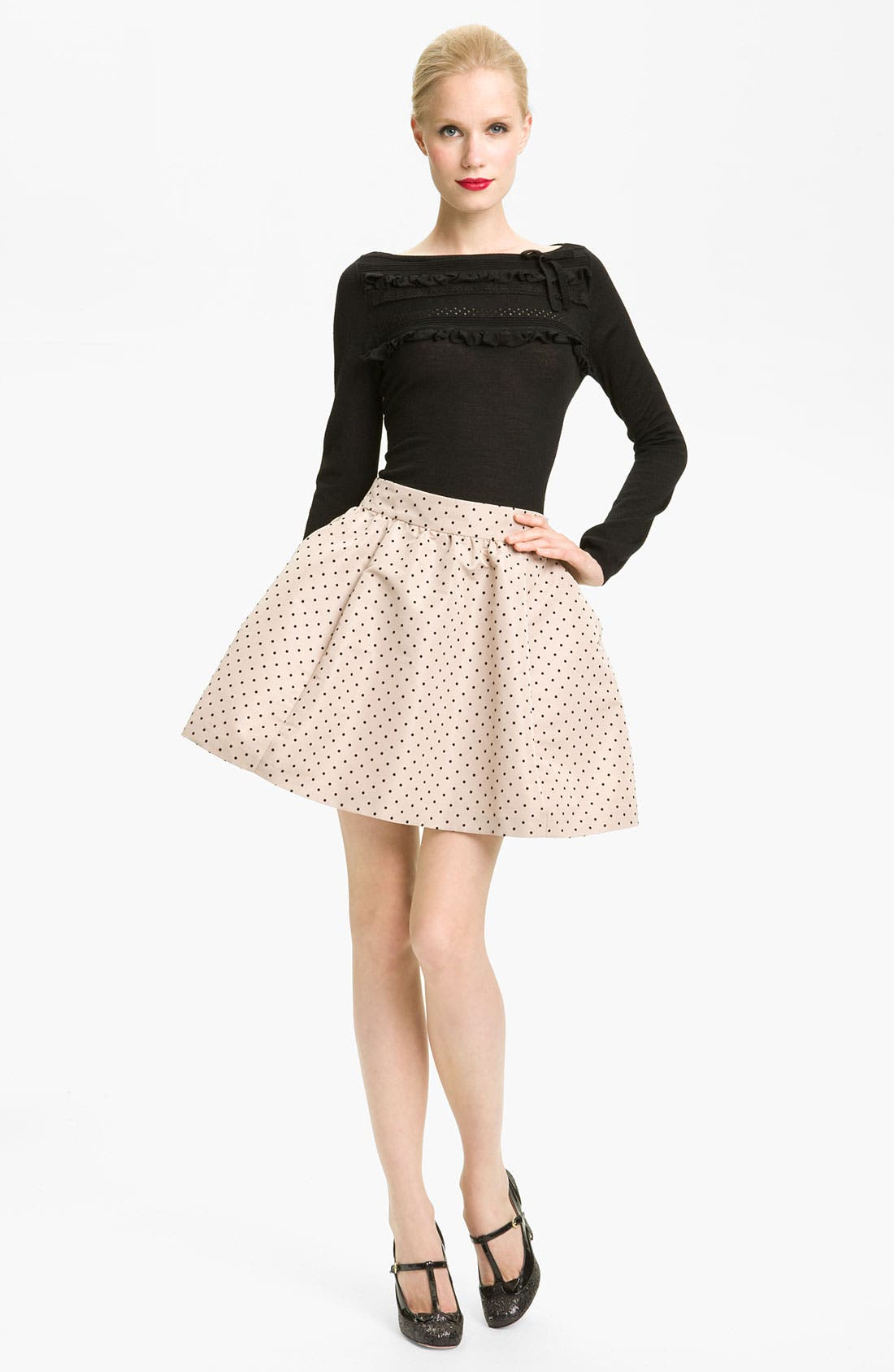 Alternate Image 1 Selected - RED Valentino Lace Detail Sweater