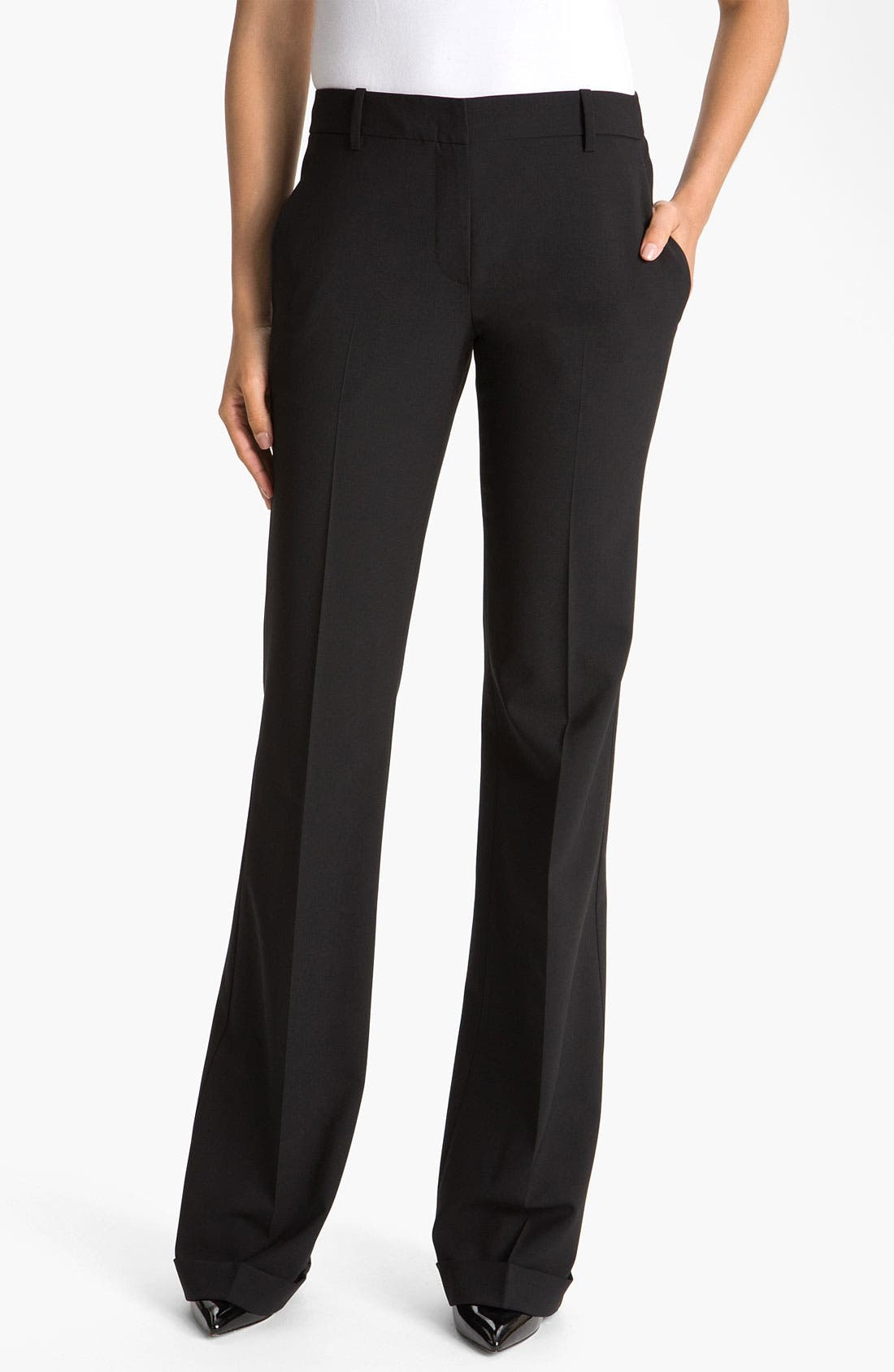 Alternate Image 1 Selected - Theory 'Lauren - Tailor' Cuff Pants