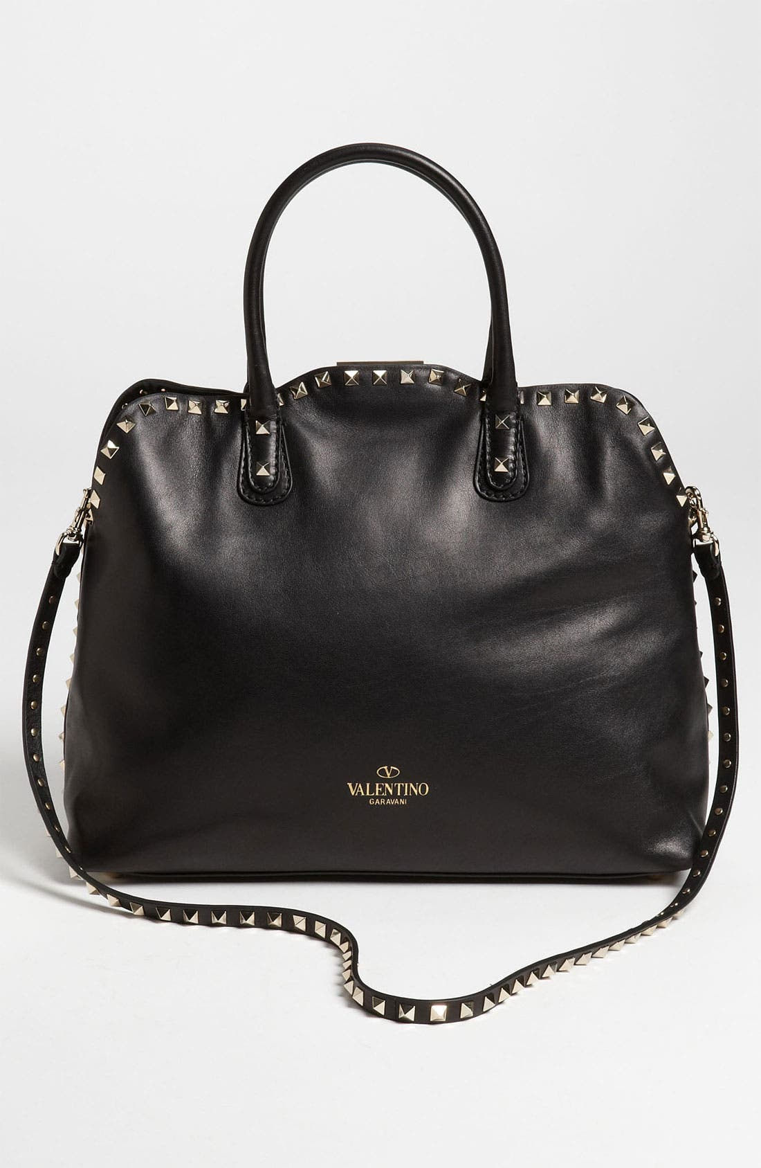 Alternate Image 4  - Valentino 'Rockstud' Leather Dome Handbag