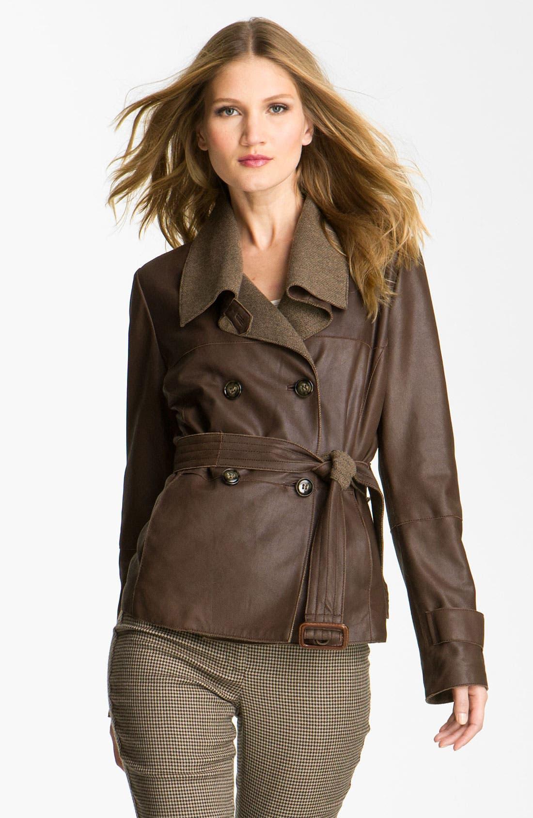 Alternate Image 1 Selected - Weekend Max Mara 'Alvaro' Leather Jacket